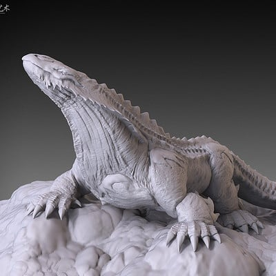 Jia hao 2017 skulllizard digitalsculpting 01