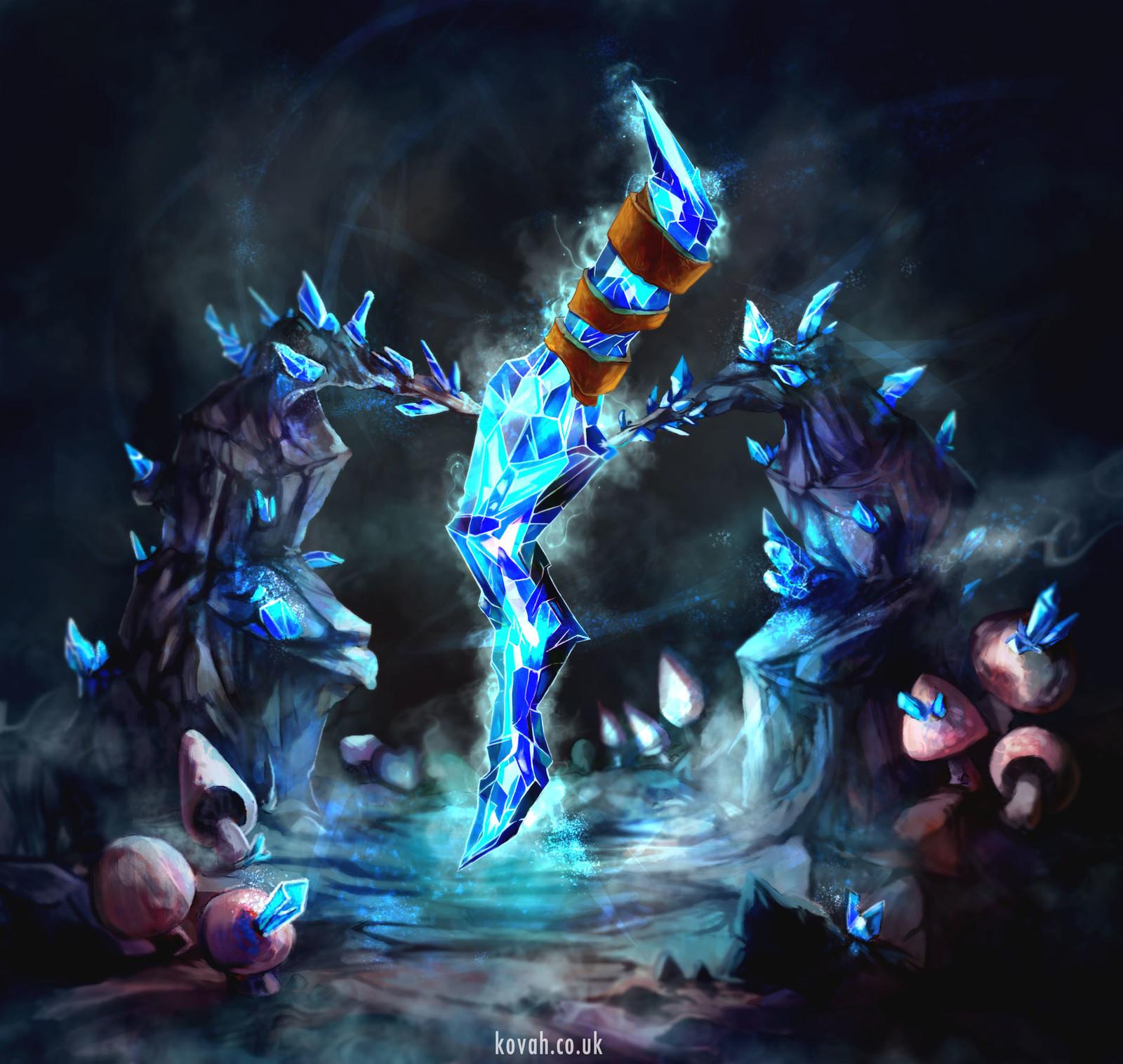 Cursed Crystal Dagger