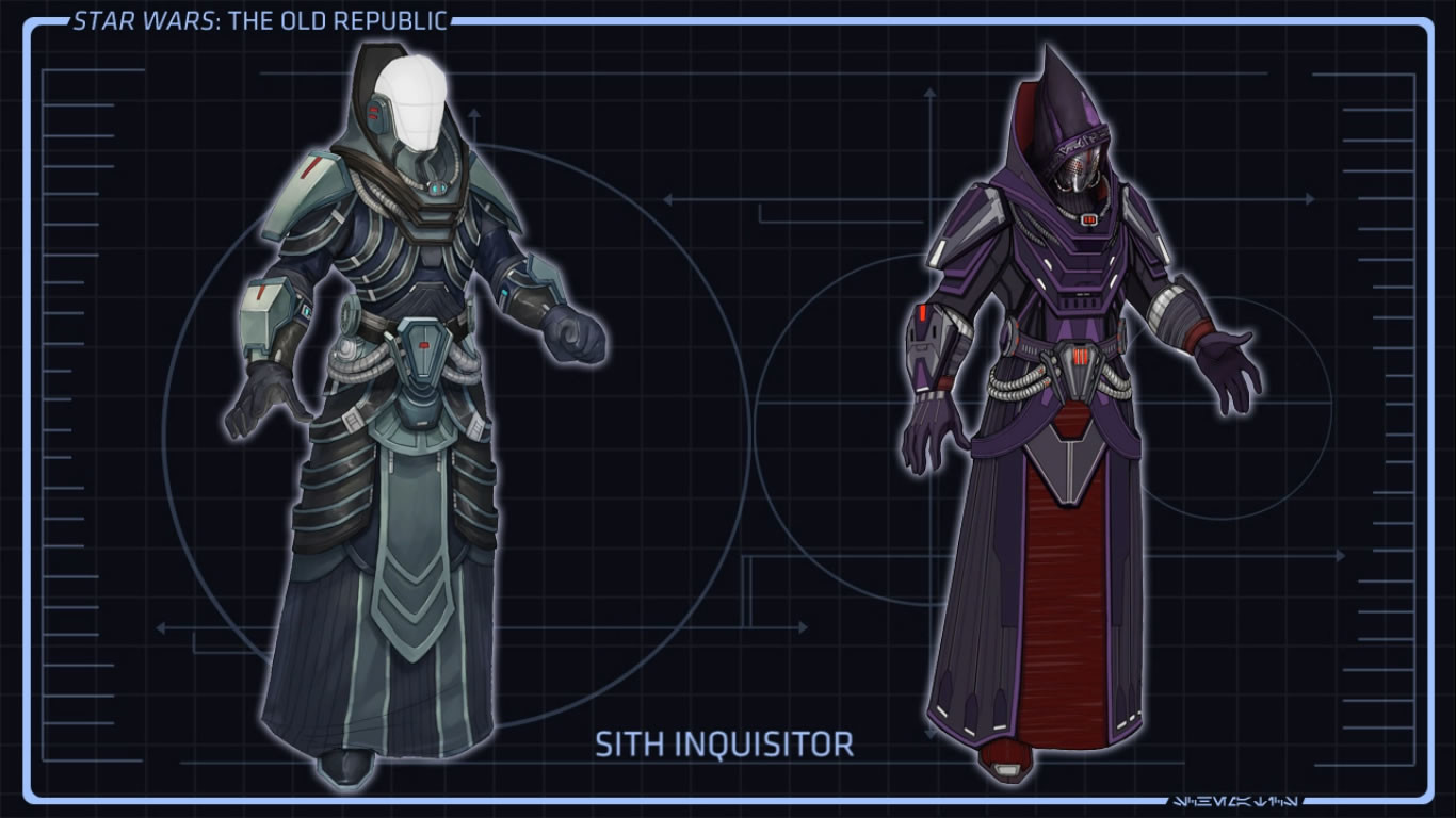 Original armor concept from Bioware for their Star Wars: the Old Republic game