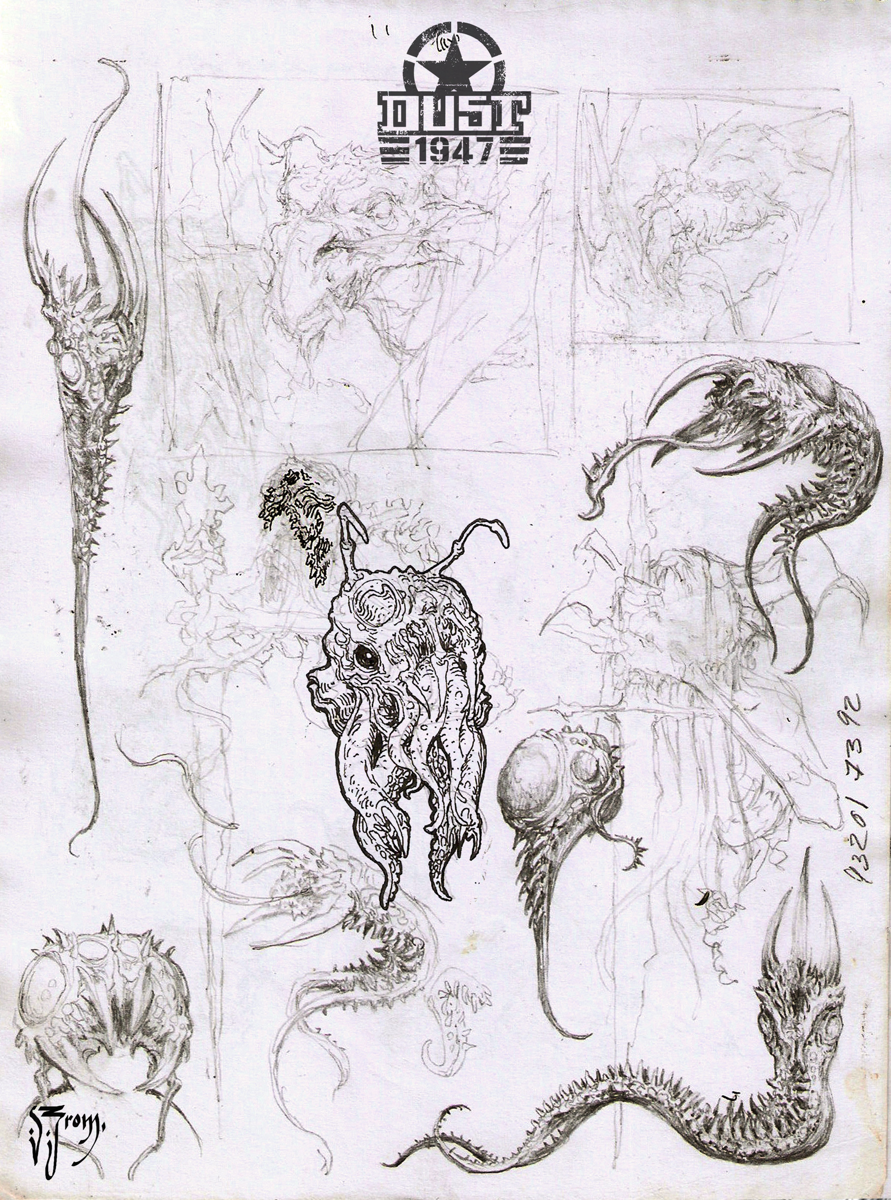 Daniel zrom danielzrom dust1947 cthulhusketches