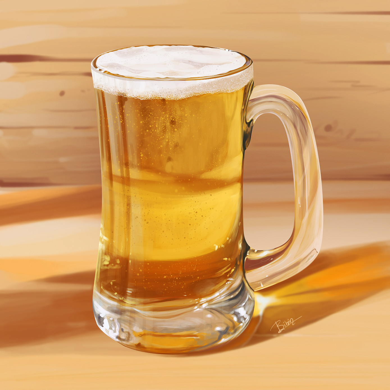 Artstation Digital Paint Beer Glass Bibin Babu Pulickel