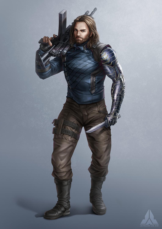 Artstation Avengers Infinity War Winter Soldier