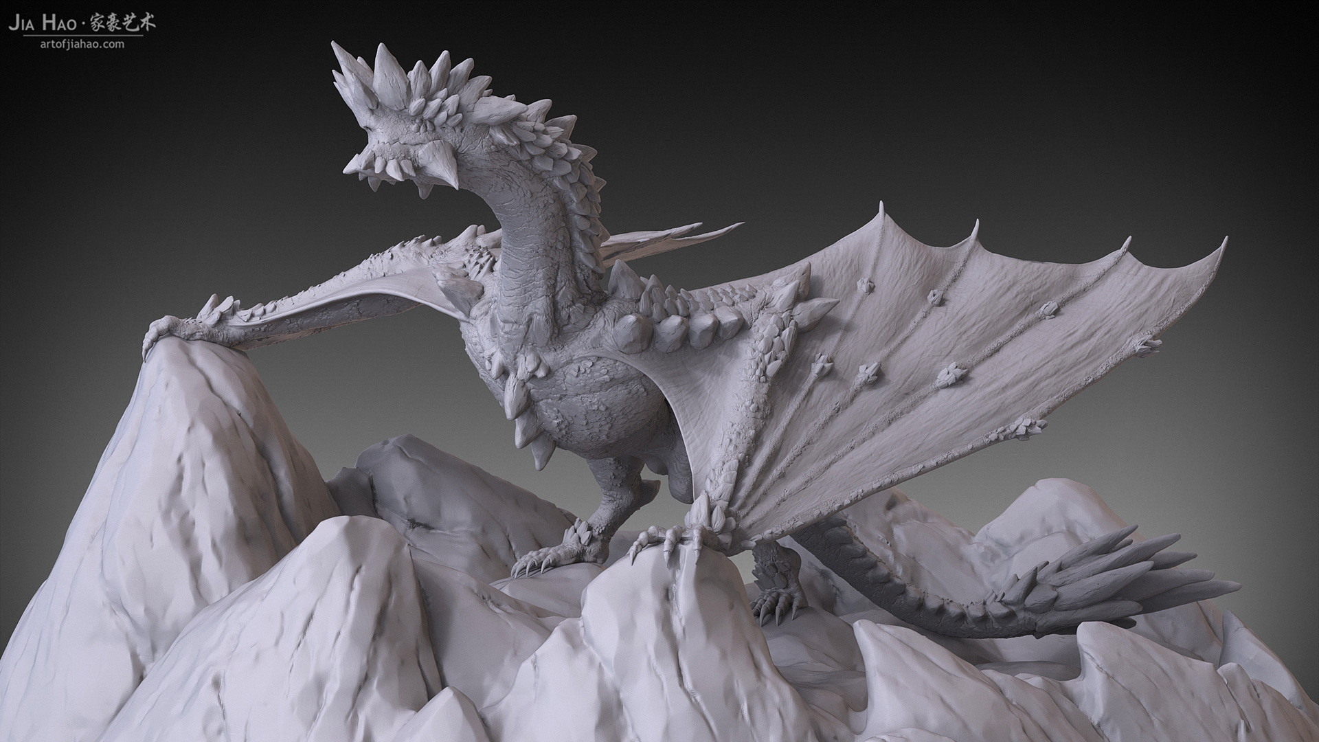 Jia hao 2017 rockdragon digitalsculpting 01