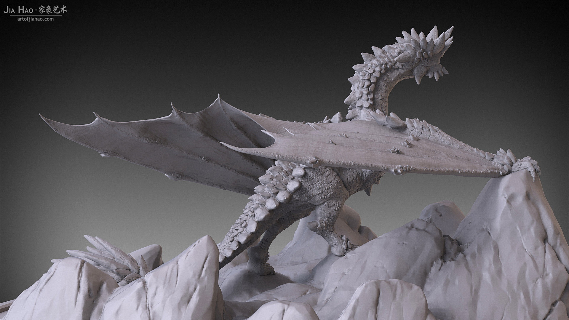 Jia hao 2017 rockdragon digitalsculpting 03