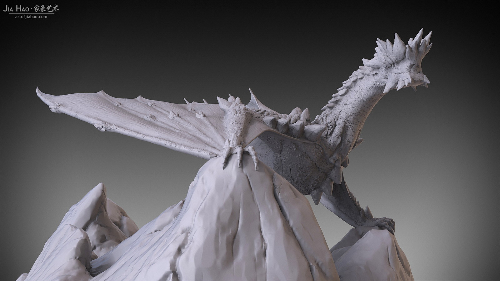 Rock Dragon Digital Sculpture