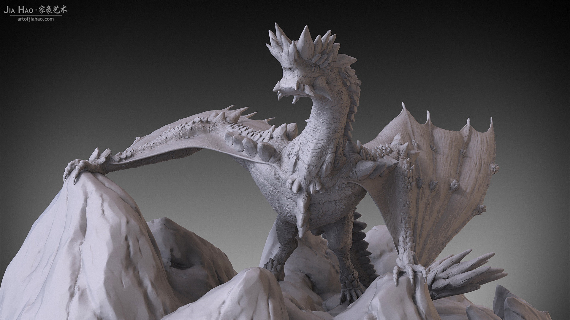 Jia hao 2017 rockdragon digitalsculpting 06