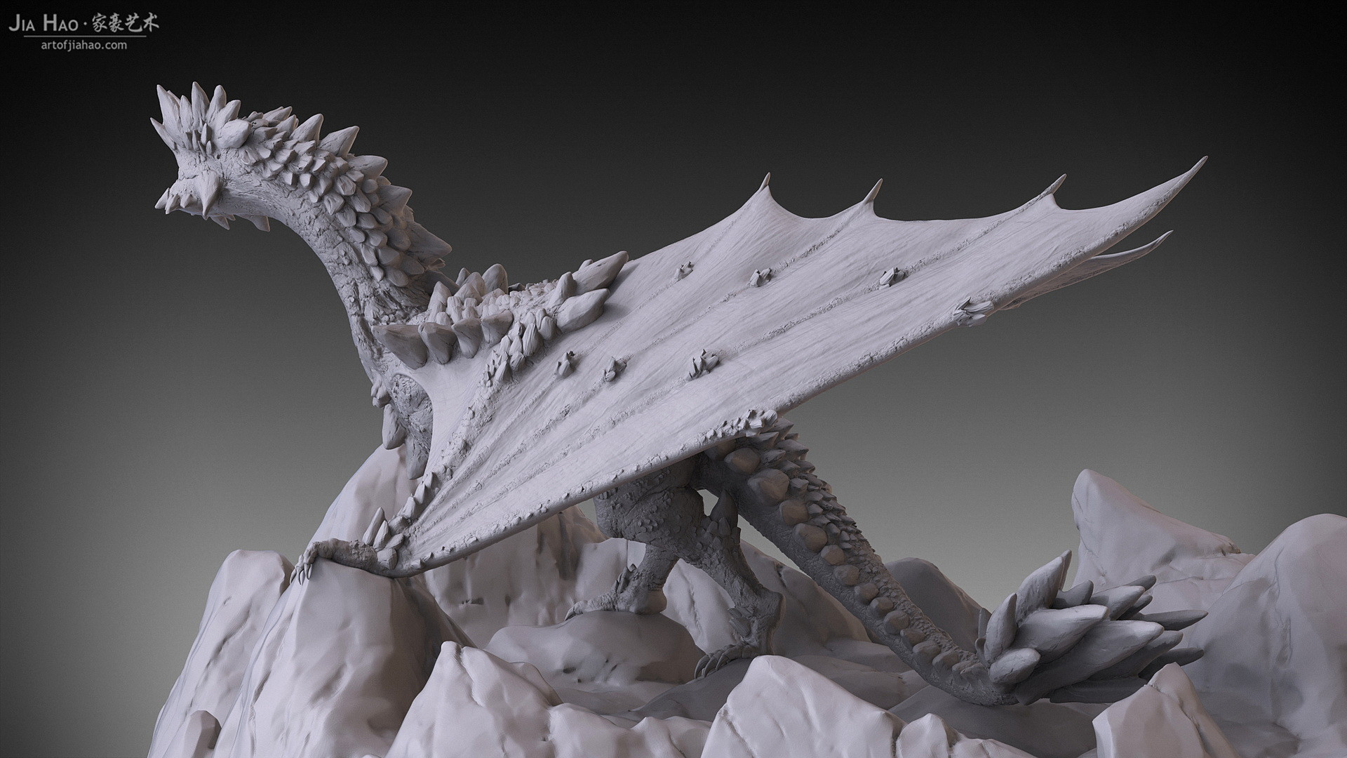 Jia hao 2017 rockdragon digitalsculpting 07