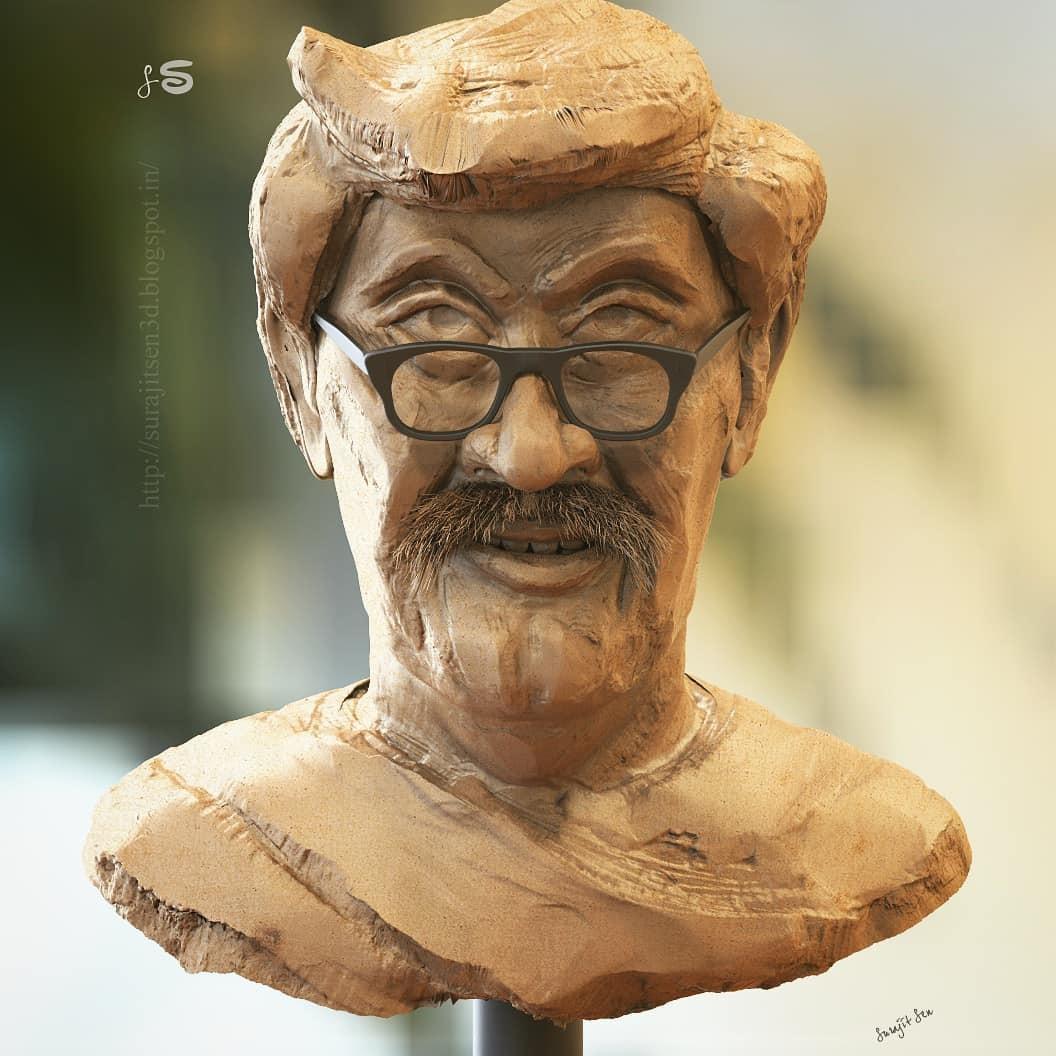 "#quickscuilpt #study   My free time quick sculpt study....""Bengali Babu"". Wish to share."