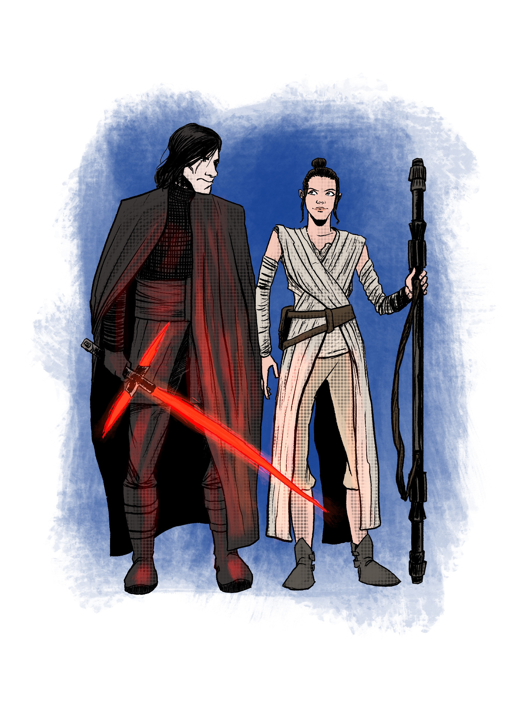 Kylo and Rey - Digital in Procreate