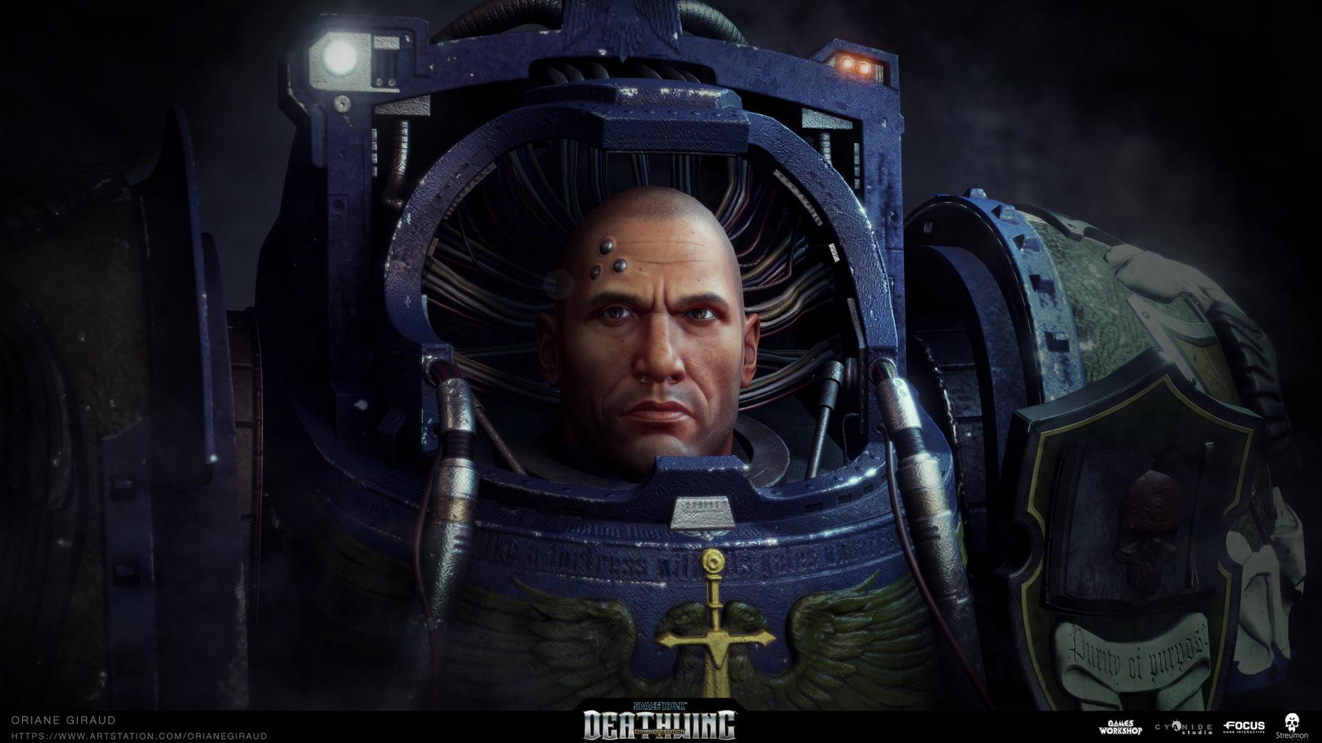 Oriane Giraud - Space Hulk Deathwing - Librarian Heads