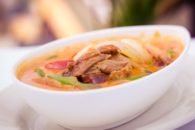 Priscilla firstenberg thailanding on alki roast duck curry