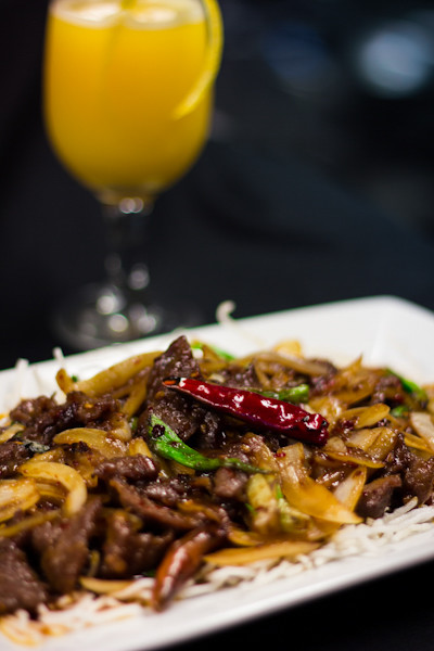 Priscilla firstenberg rickshaw mongolian beef with drink