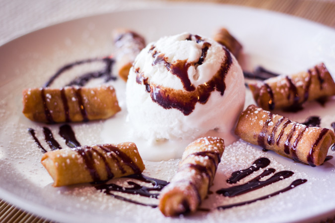 Priscilla firstenberg erawan bangkok fried banana with coconut ice cream