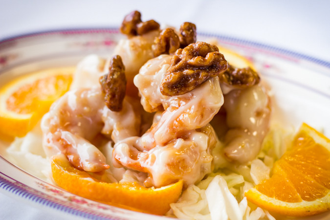 Priscilla firstenberg yangsnoodle honey walnut prawns