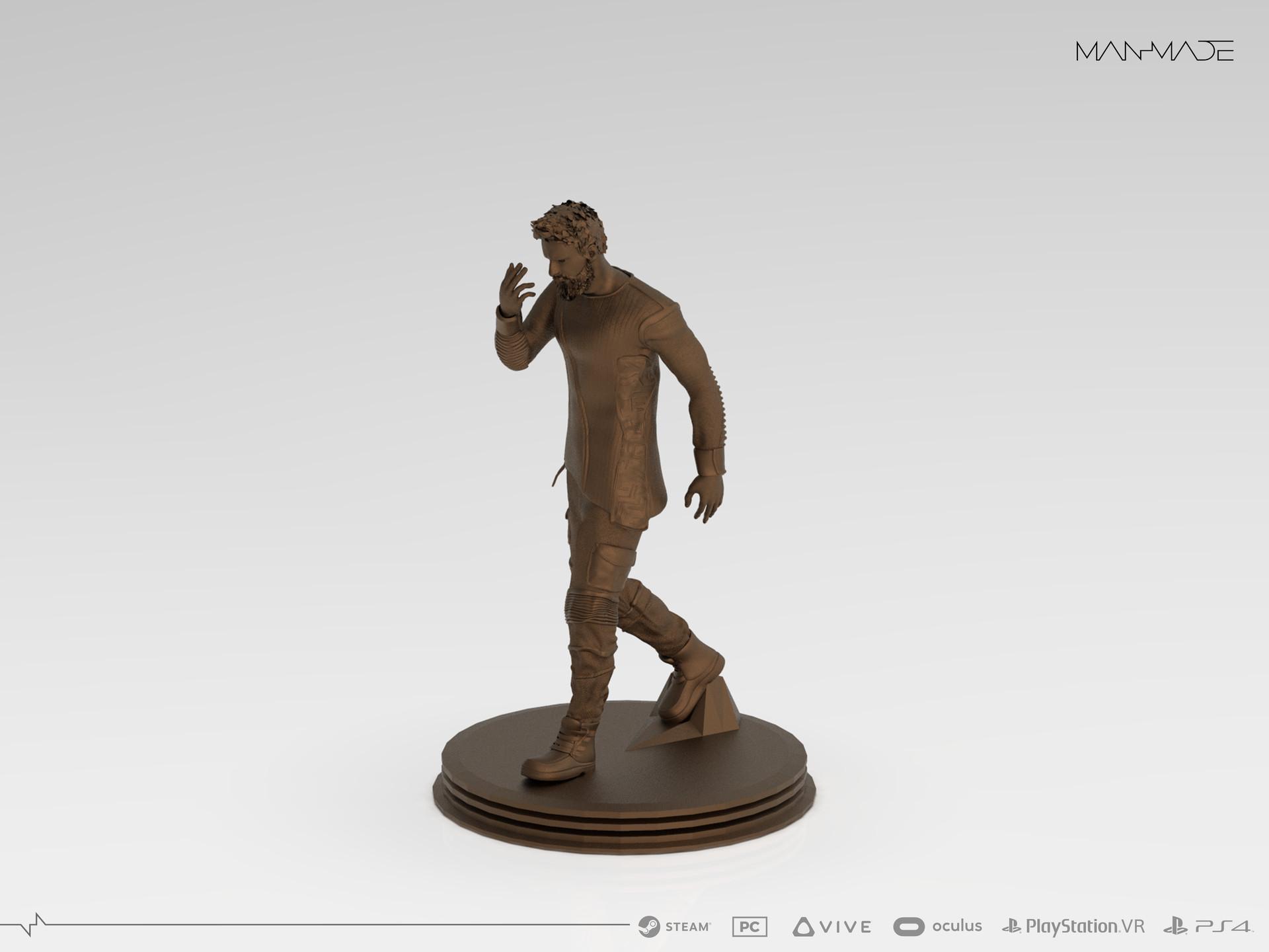 William Kaan Roberts Statue Keyshot Render 2