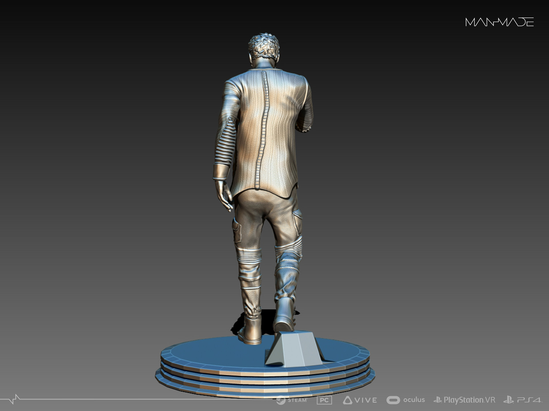 William Kaan Roberts Statue Zbrush Phase 2