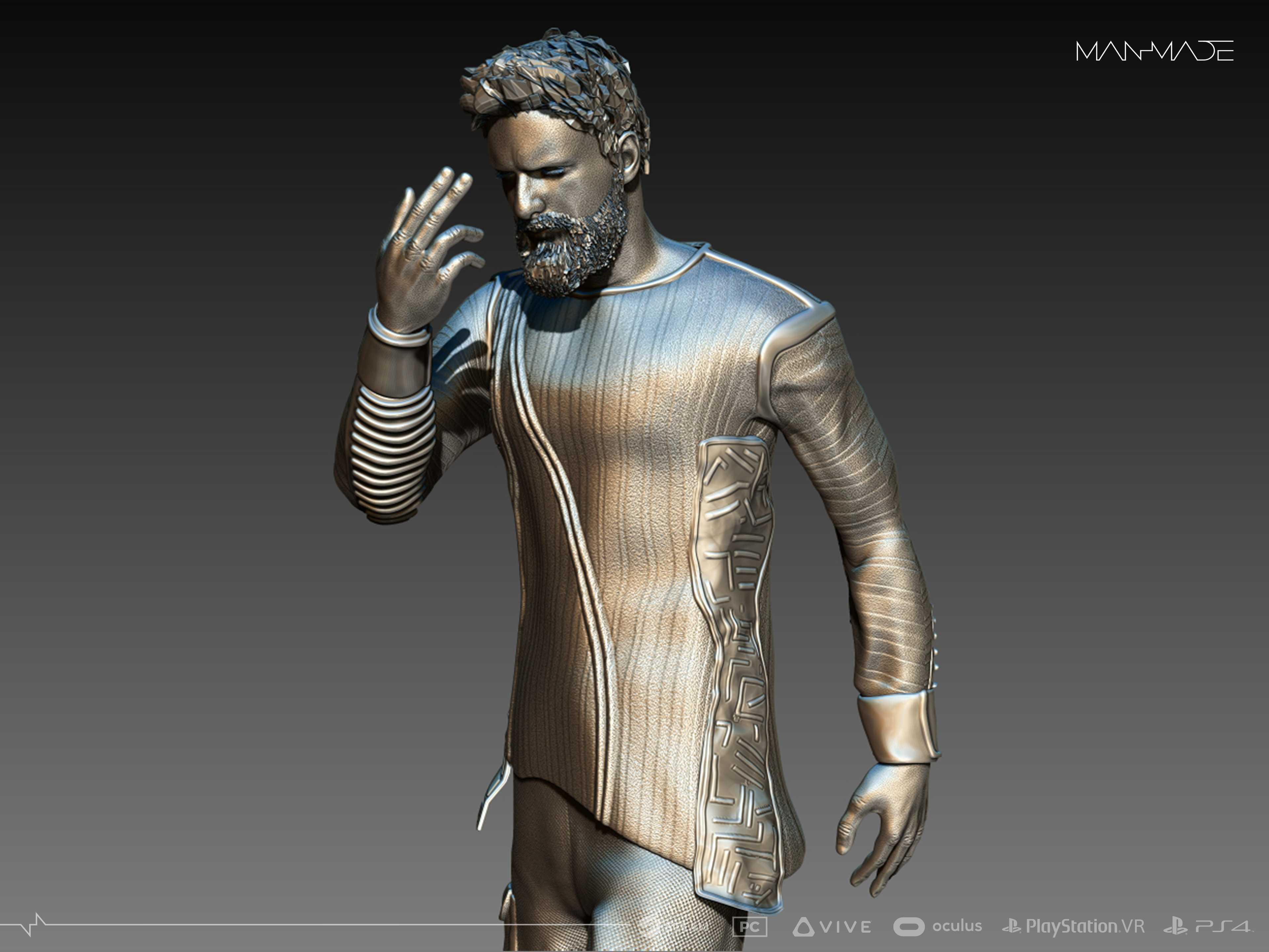 William Kaan Roberts Statue Zbrush Phase 3