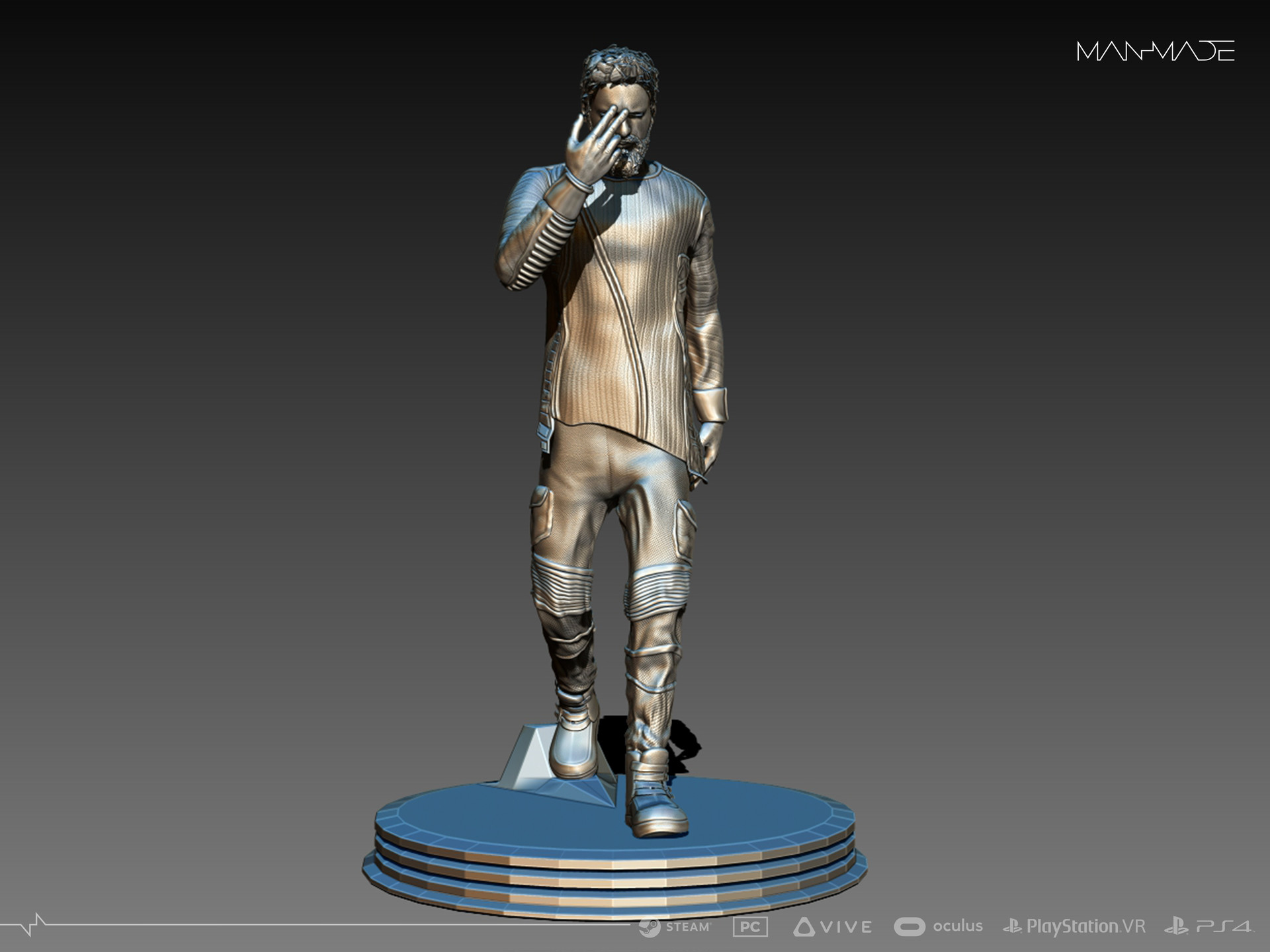 William Kaan Roberts Statue Zbrush Phase 1