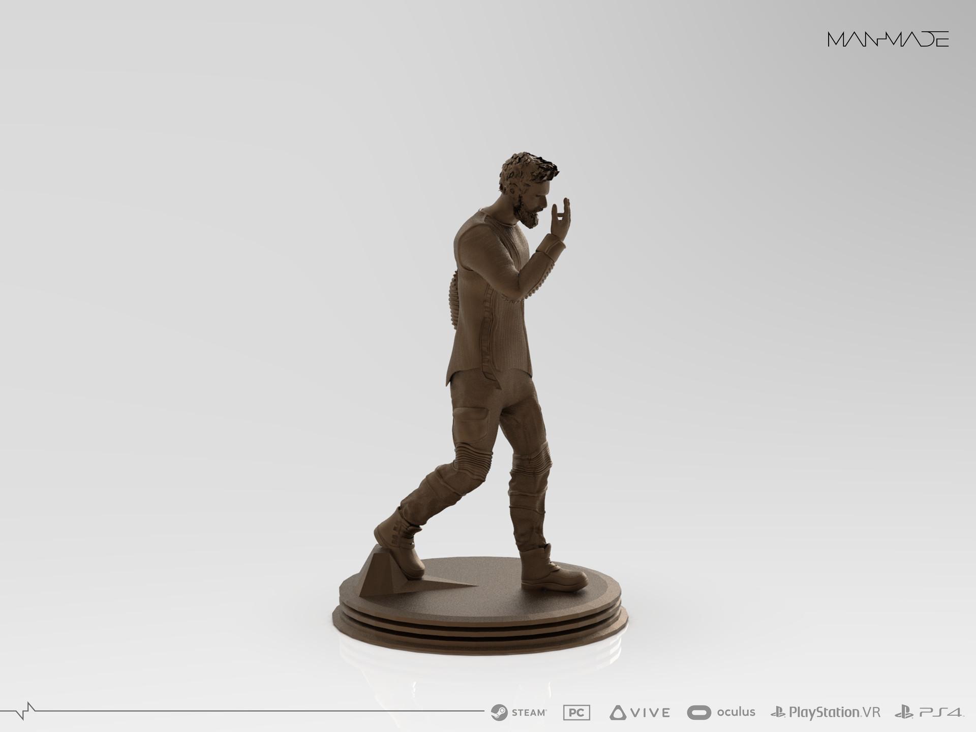 William Kaan Roberts Statue Keyshot Render 3