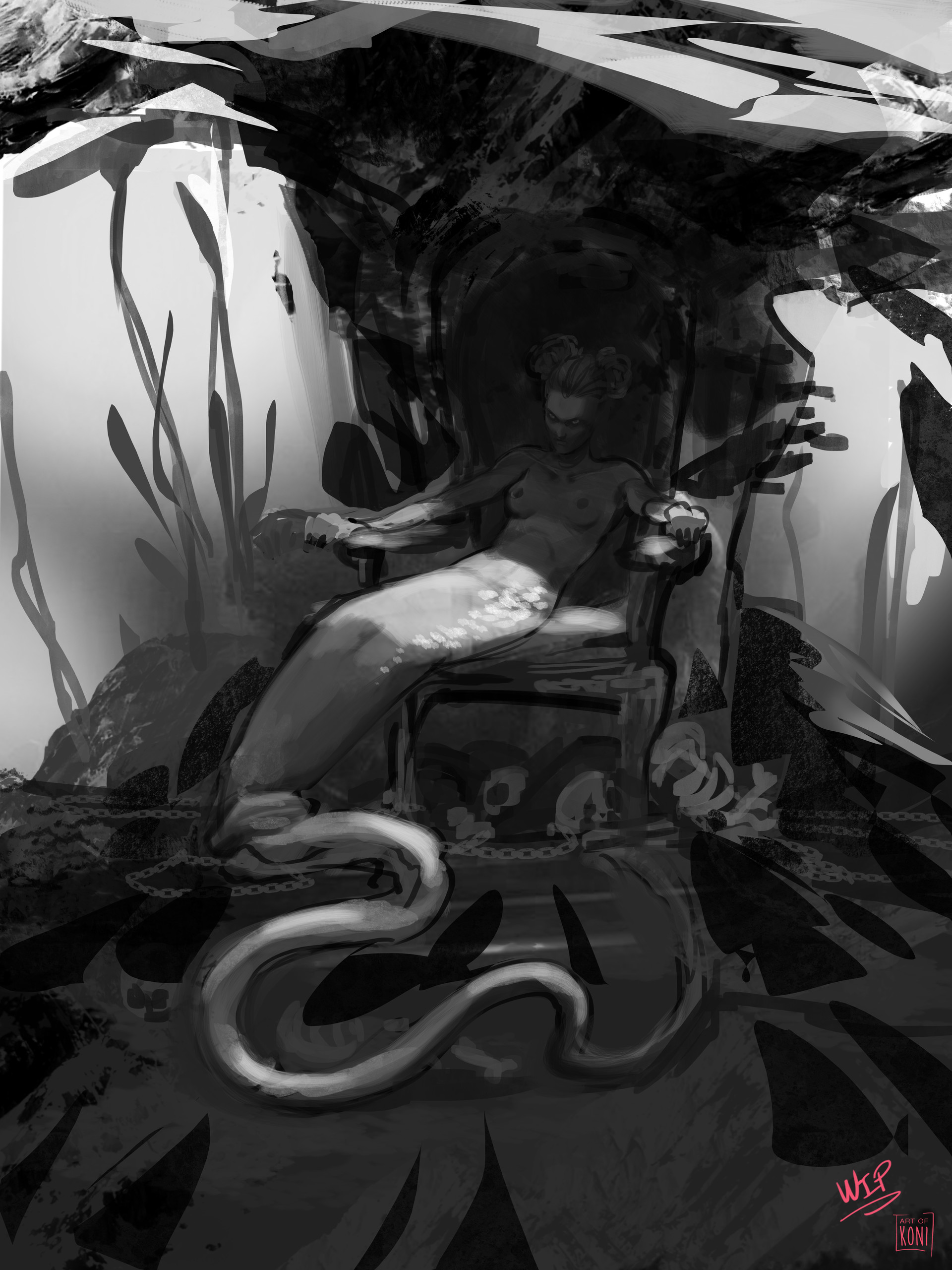 Koni amandine girard amandine girard koni berta sirena the demon of the sea wip 01
