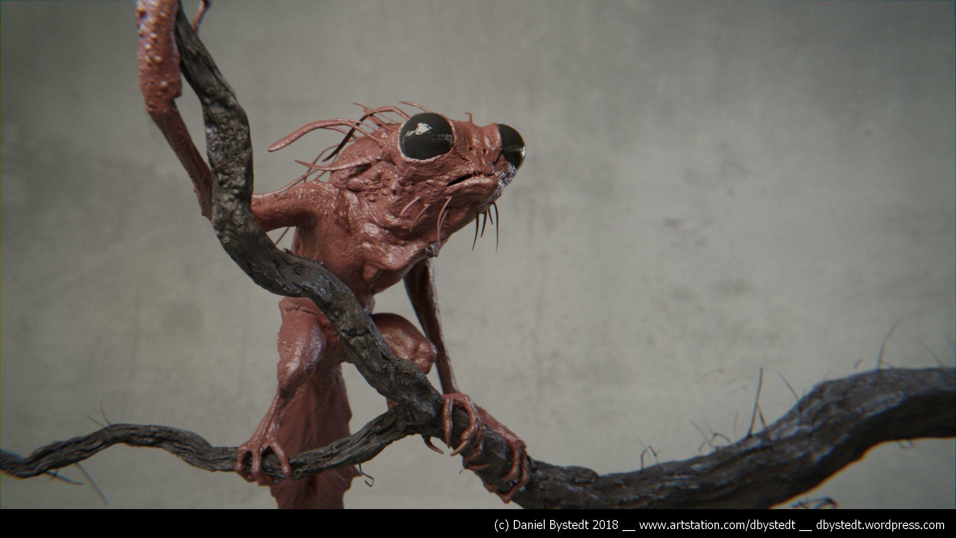 Daniel bystedt treecreature clay render 1