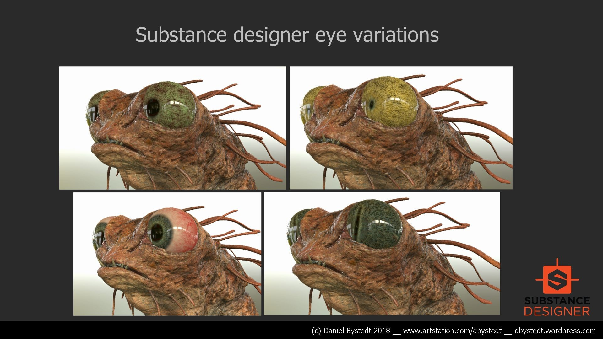 Daniel bystedt treecreature substance designer eye variations