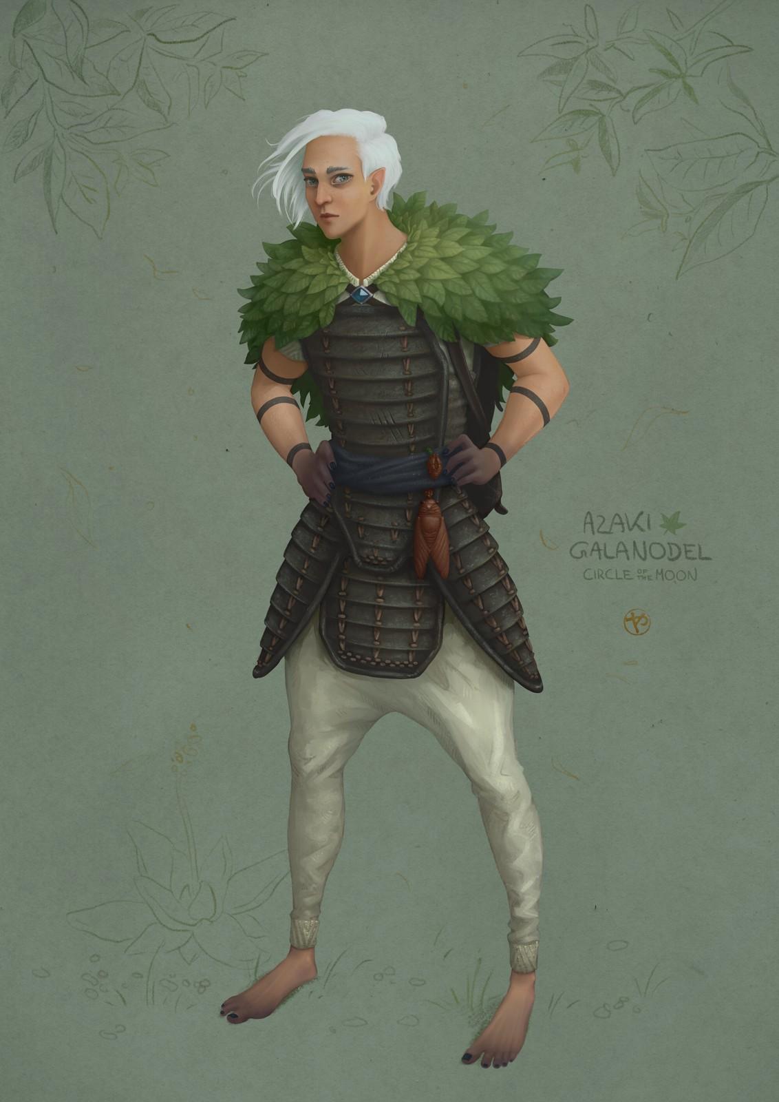 Azaki Galanodel - Druid of the Circle of the Moon