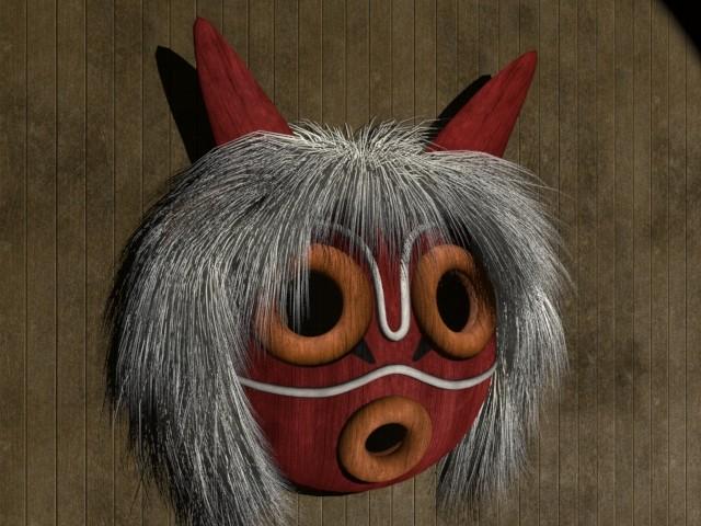 Artstation Princess Mononoke Mask Ariel Routhier