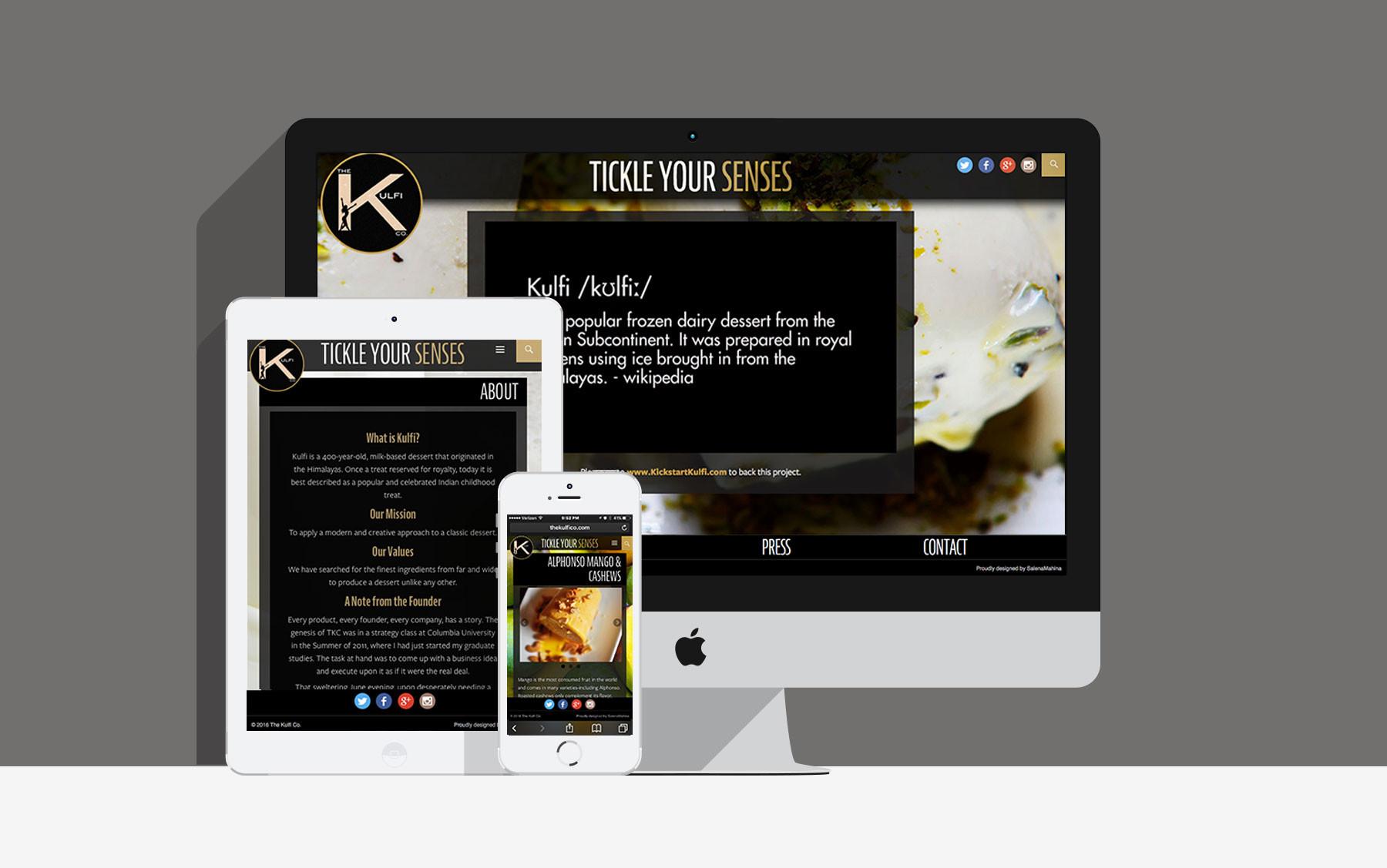 Salena mahina kulfi web presentation