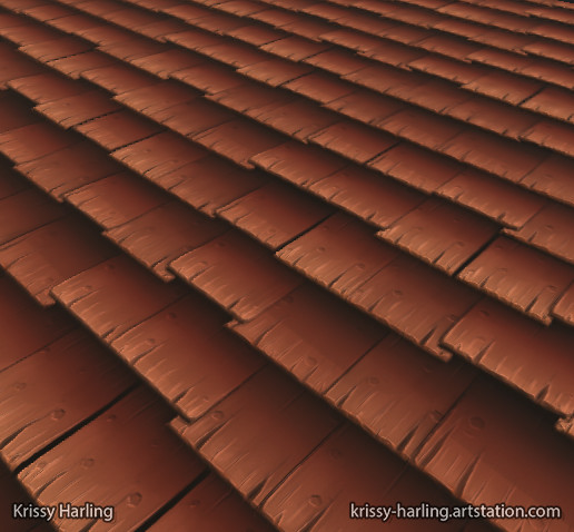 Hand Painted Style Roof Tiles