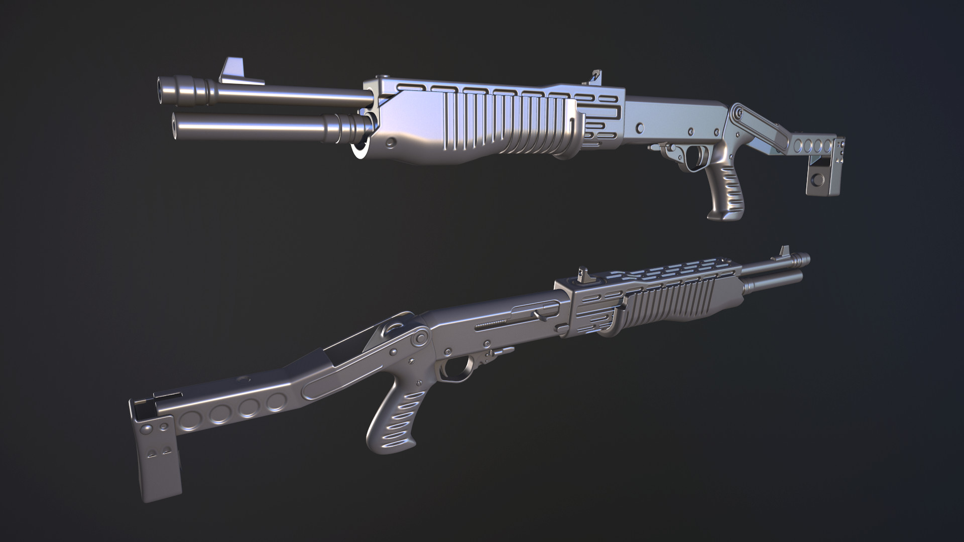 ArtStation - Third Person Weapons, Dave Watts