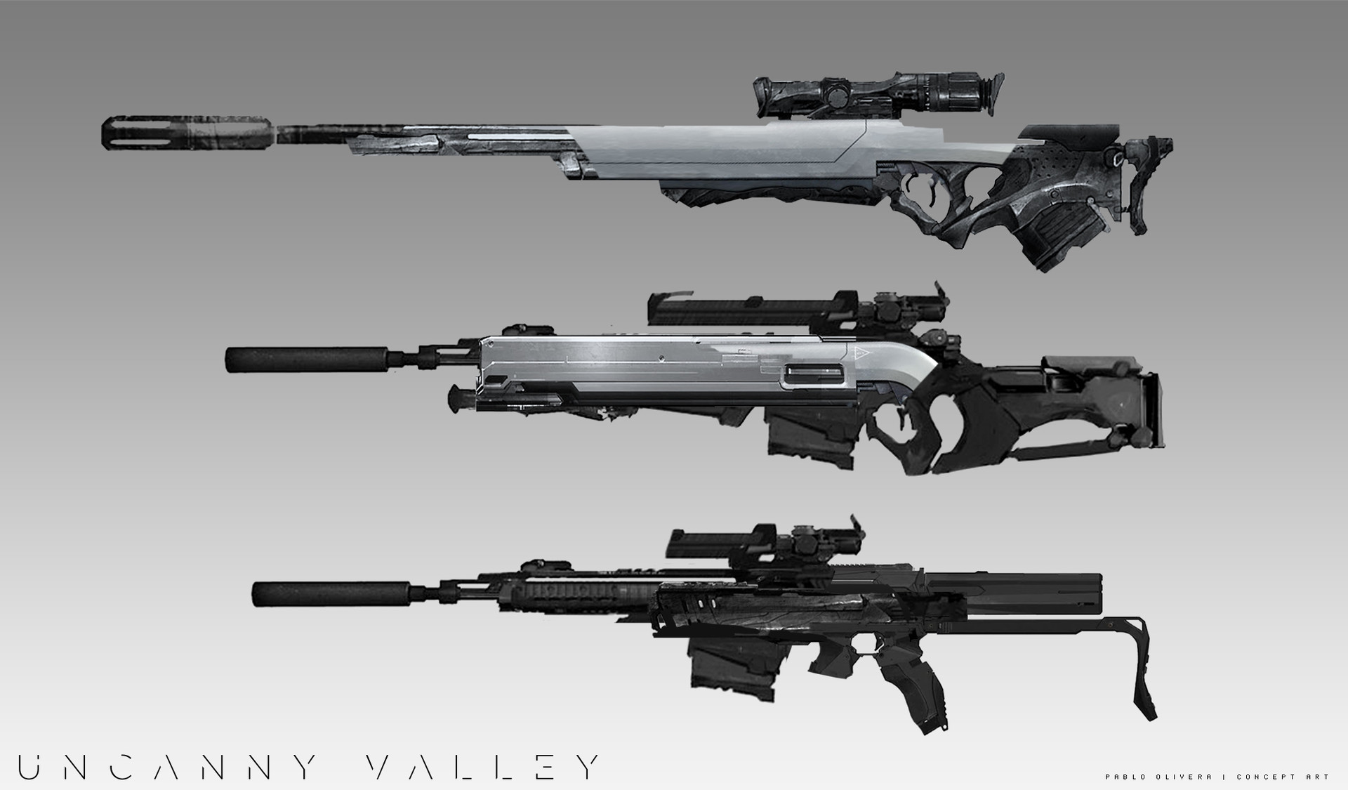 Pablo olivera uncanny valley weapons todas 04