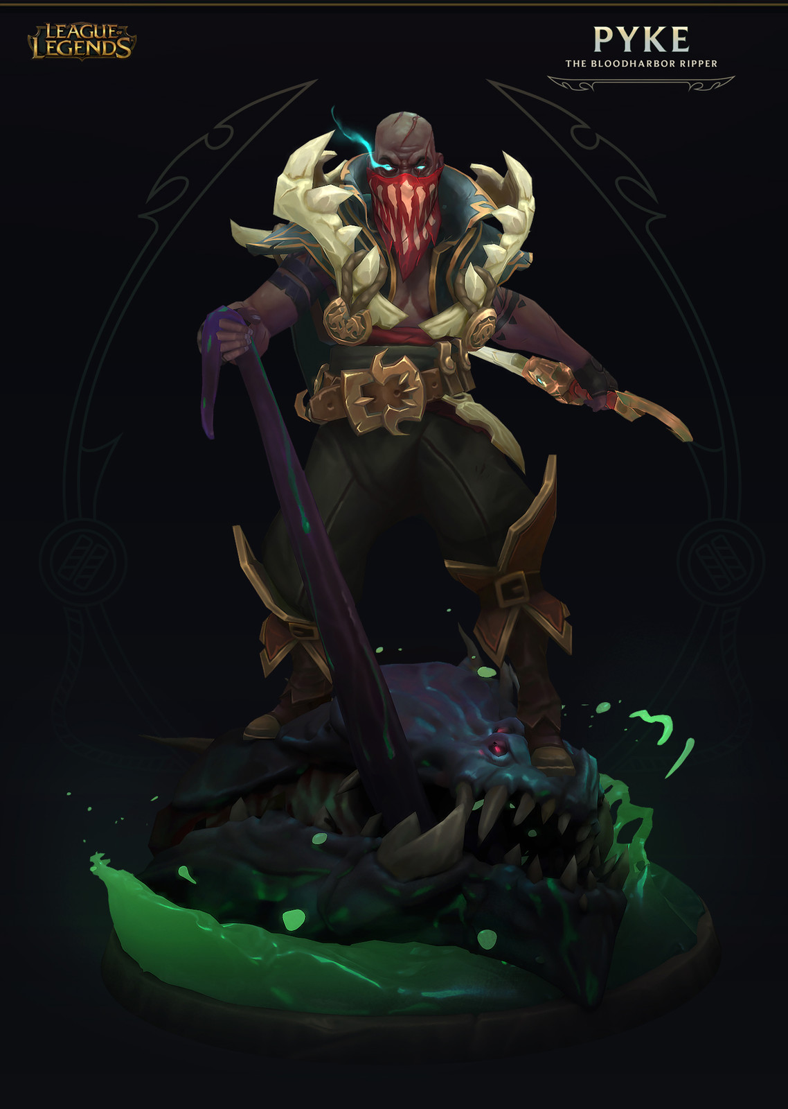 "Pyke ""The  Bloodharbor Ripper"" - Ingame model- League of Legends"