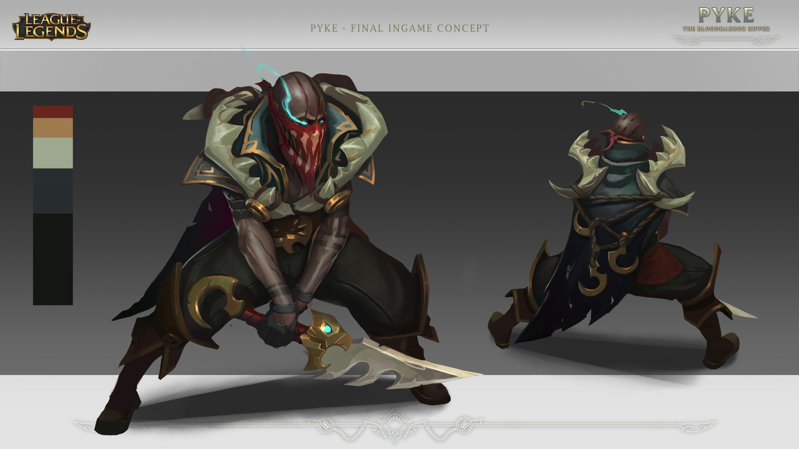 "Pyke ""The  Bloodharbor Ripper"" -Concept Art- League of Legends"