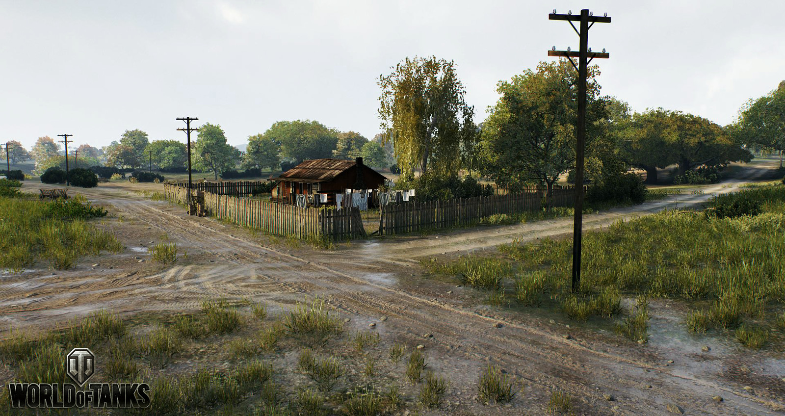 House, props, and telephone poles are old SD assets which were replaced later.
