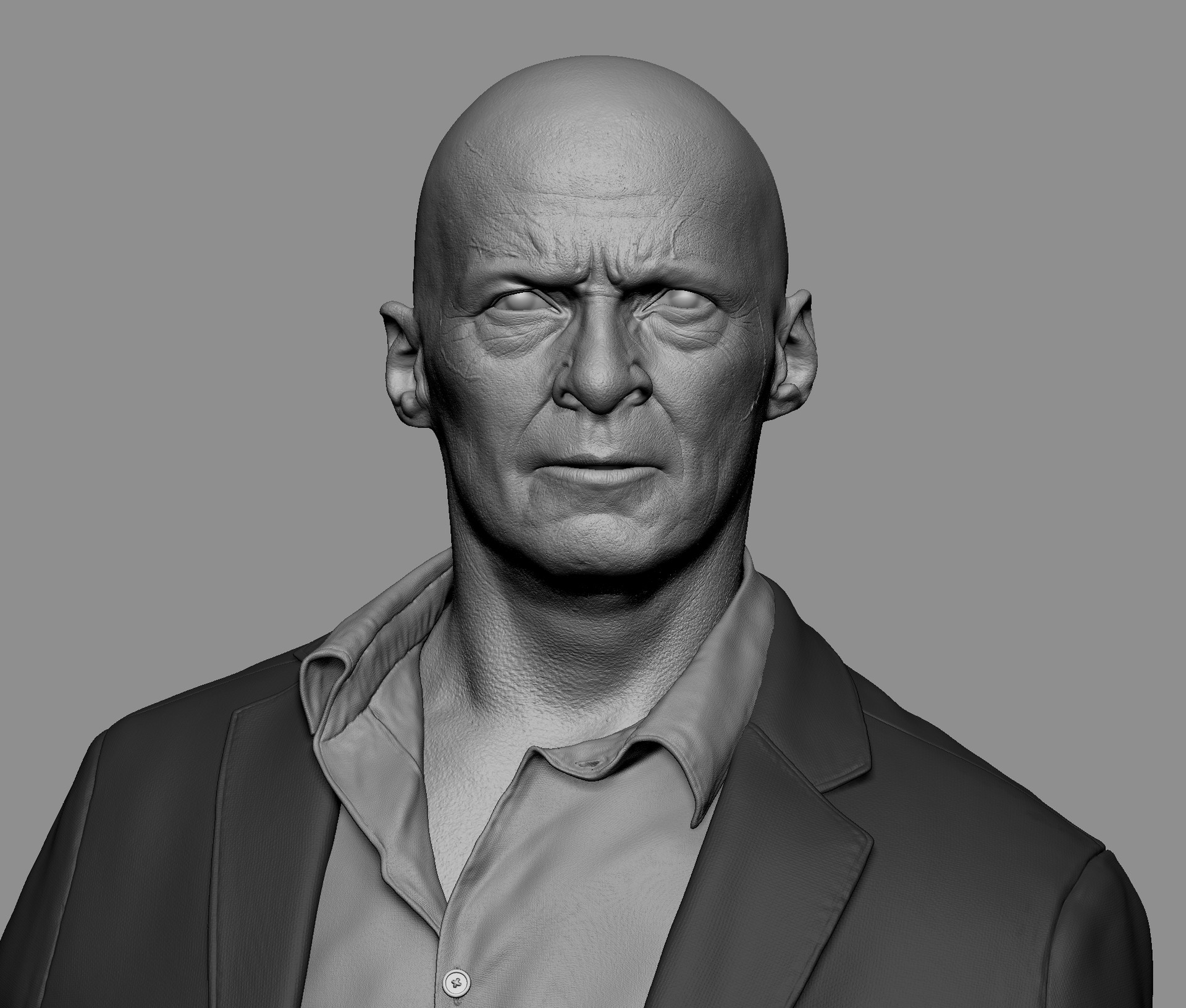 the zbrush sculpt