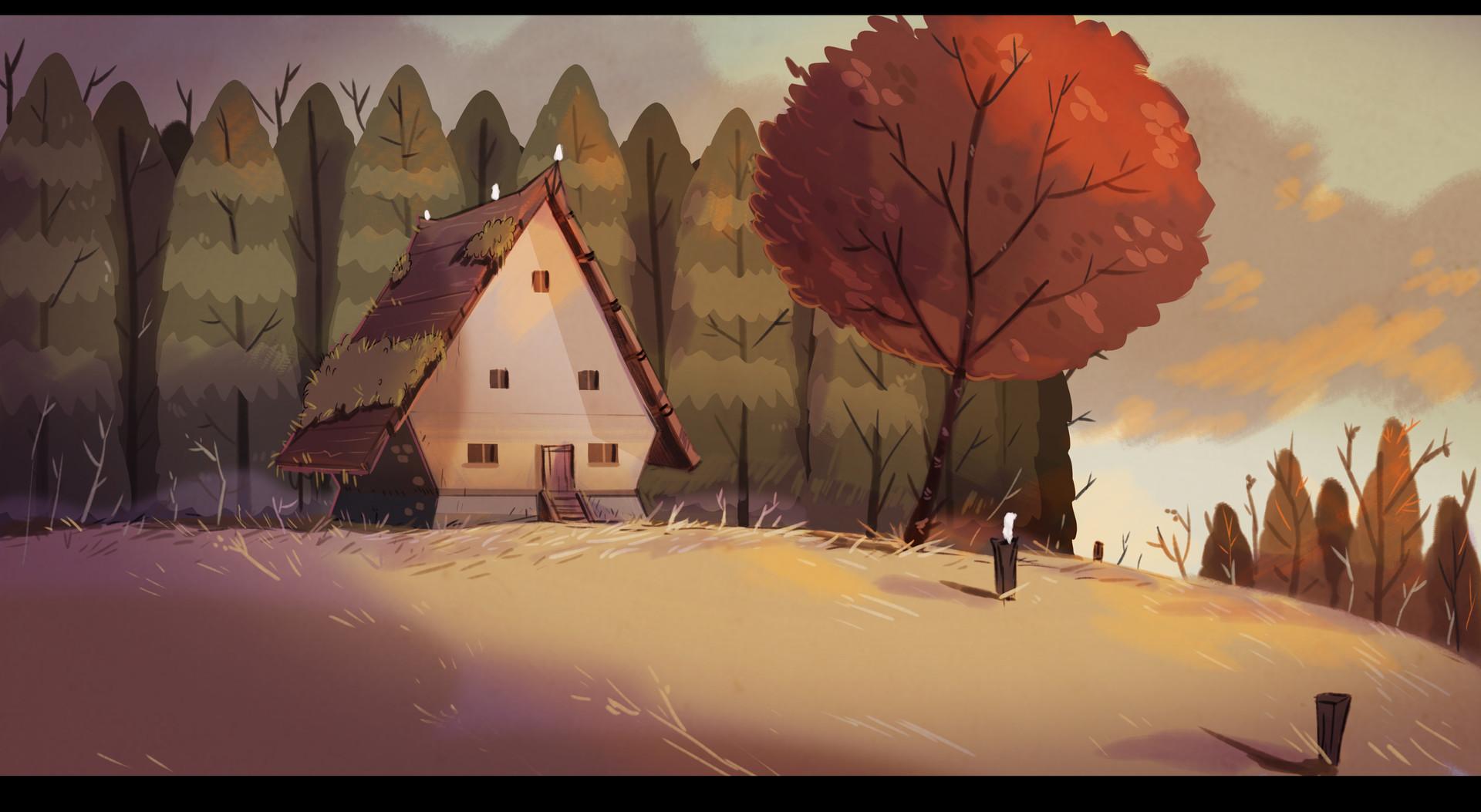 Pablo broseta casa exterior sketch color