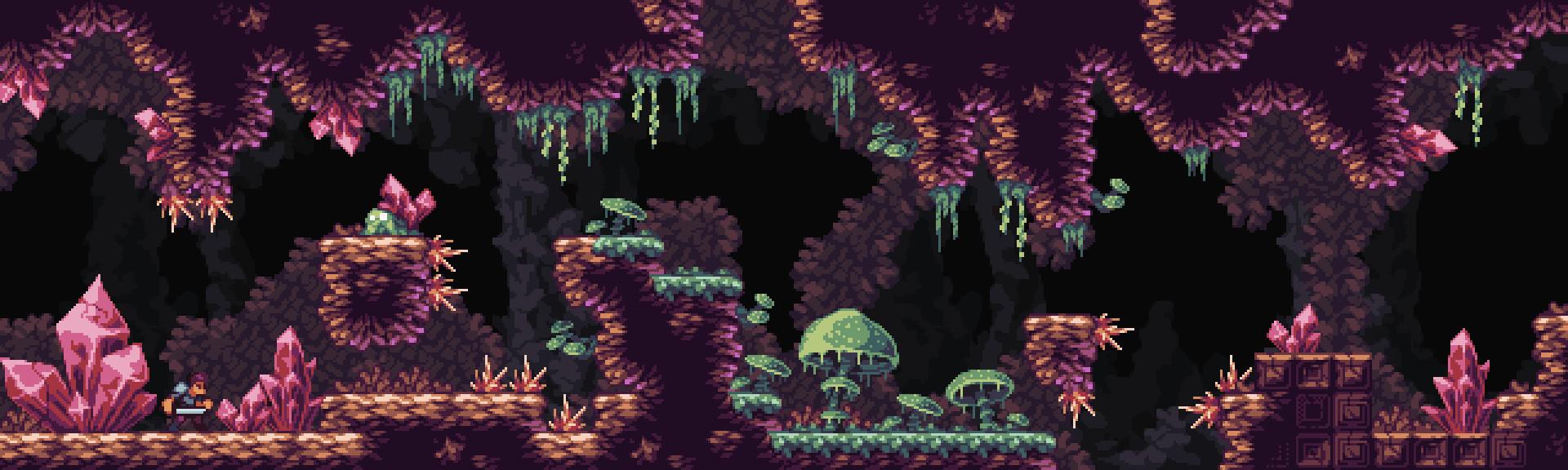 Nauris Amatnieks - Fantasy Caves- Pixel art asset pack