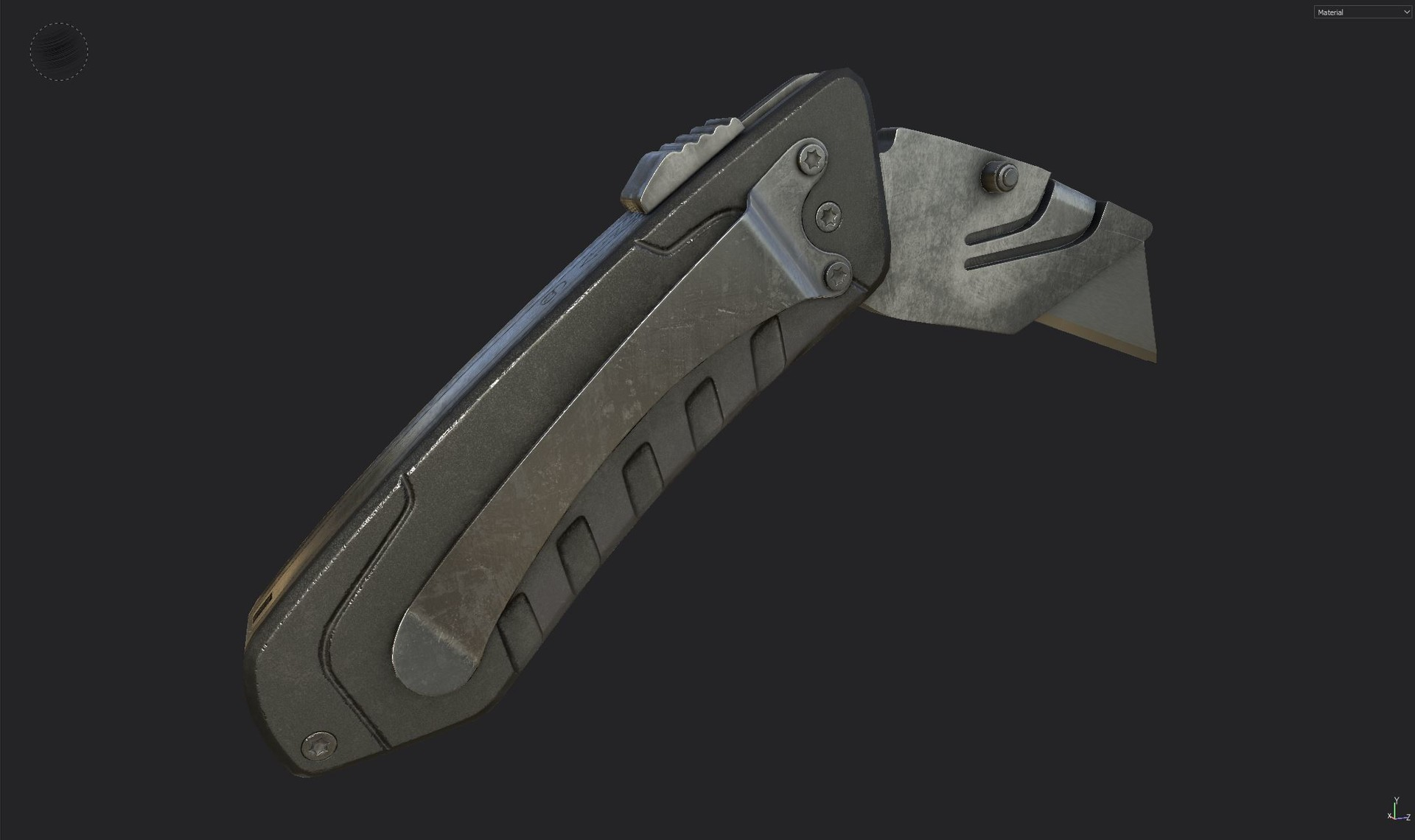 Box Cutter - Low poly textured 3