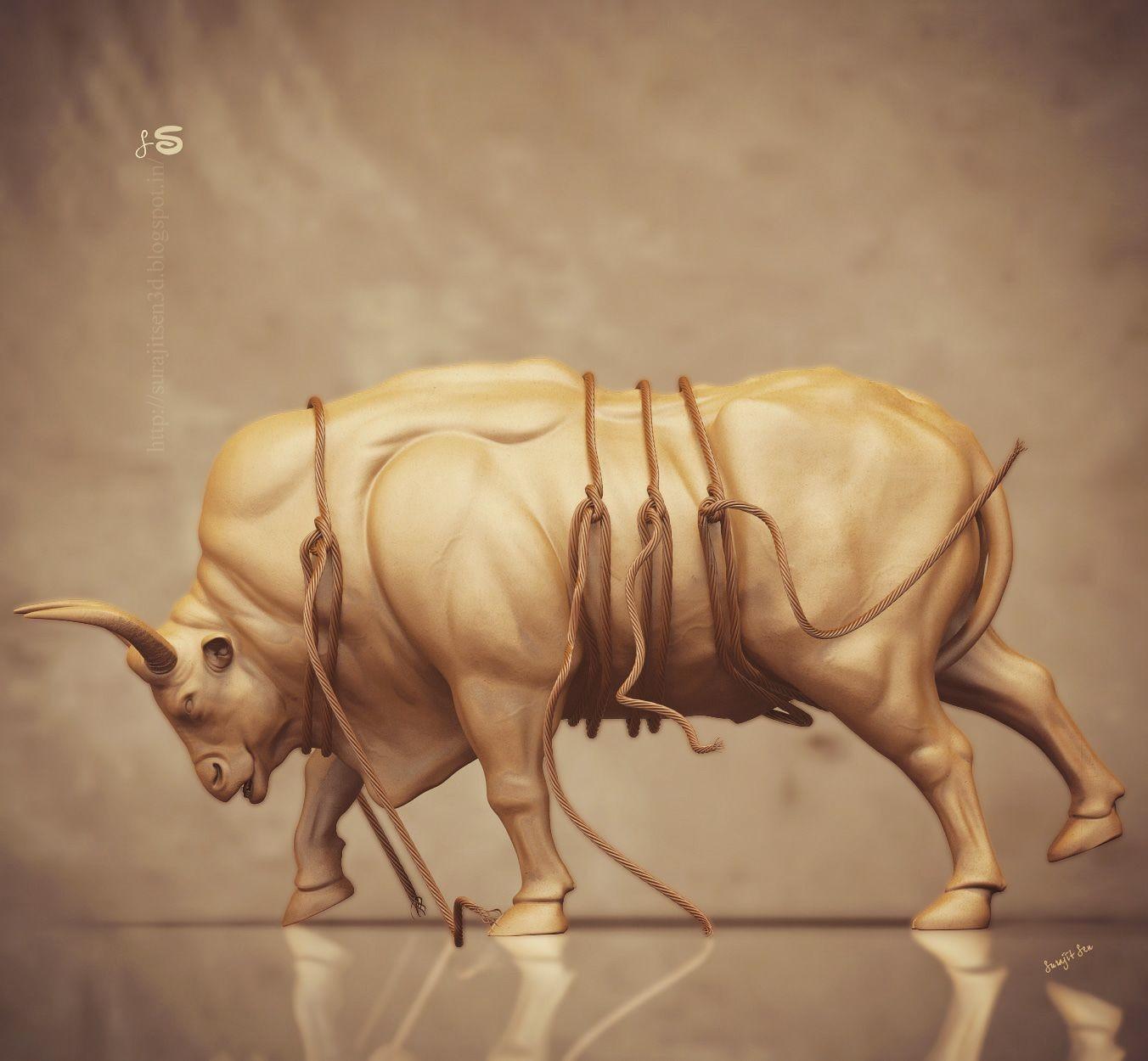 Surajit sen angry gaur bull surajitsen reshare 10062018 ints