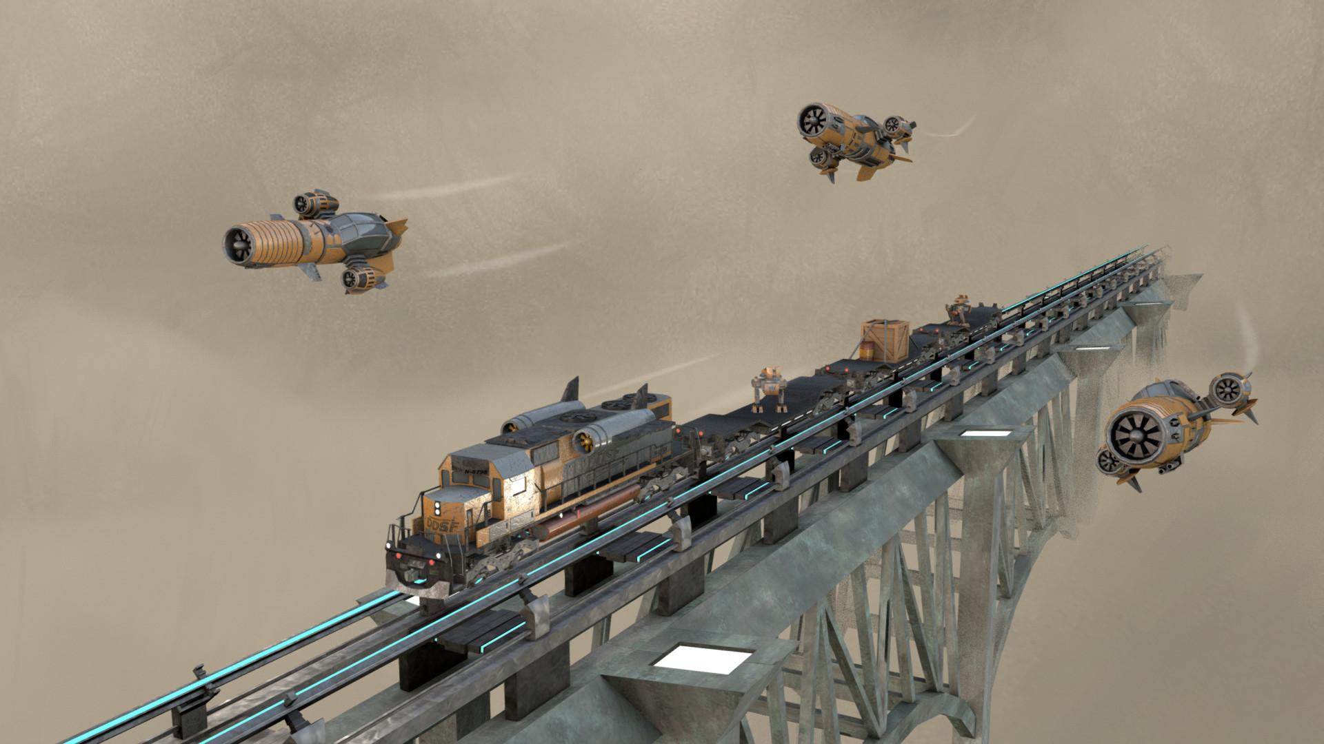 Ivan batalla dieselpunk challenge sky train