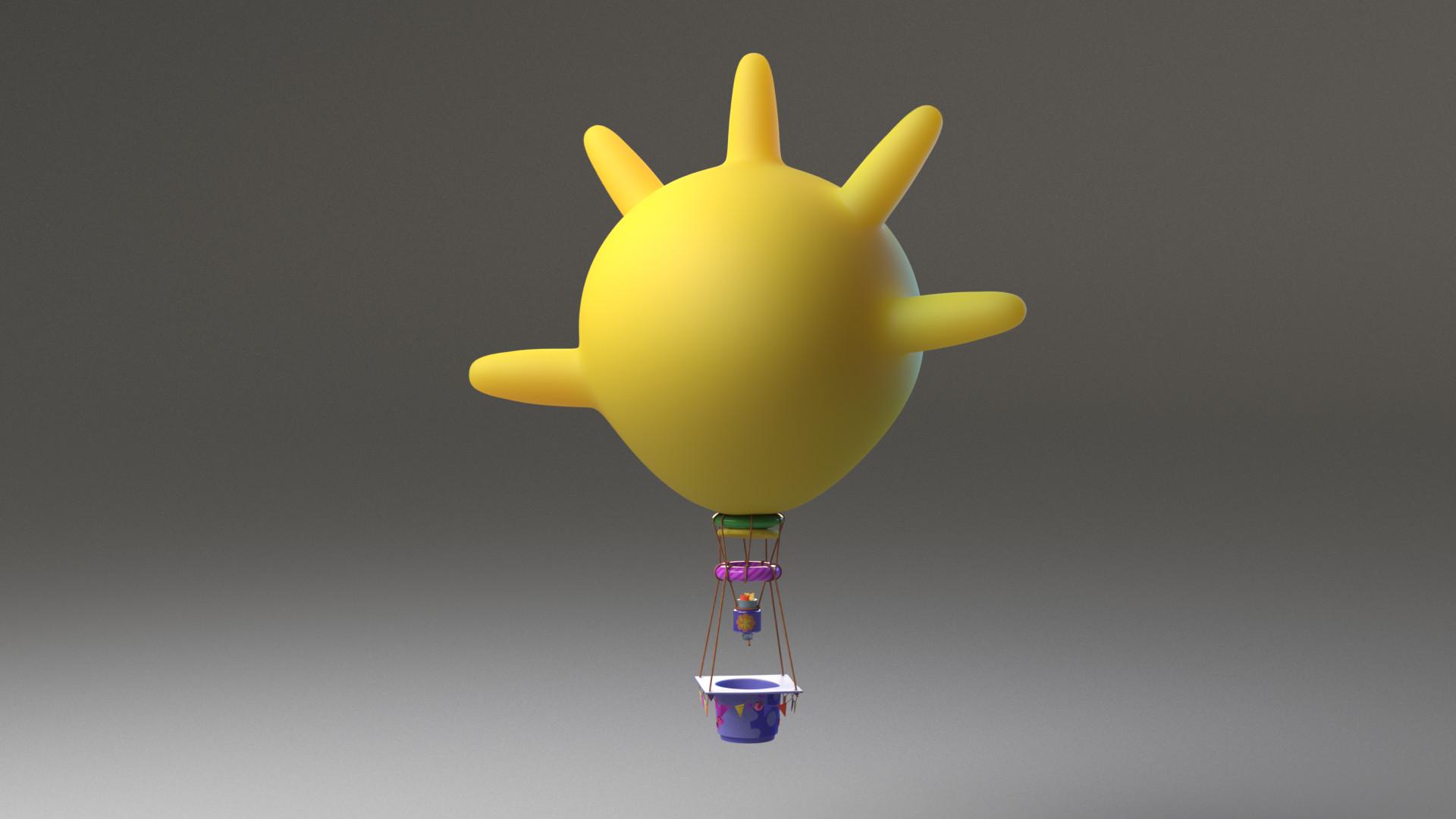 artstation - hot air balloon, zoe lane