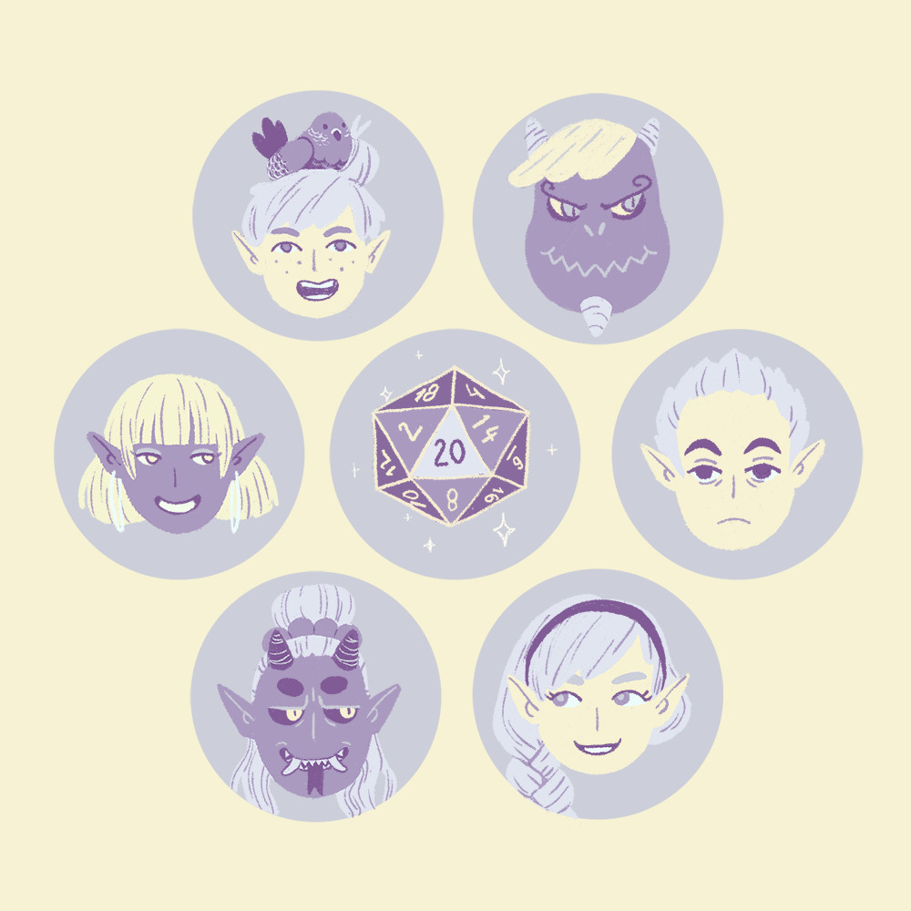 Icons for Amon's party
