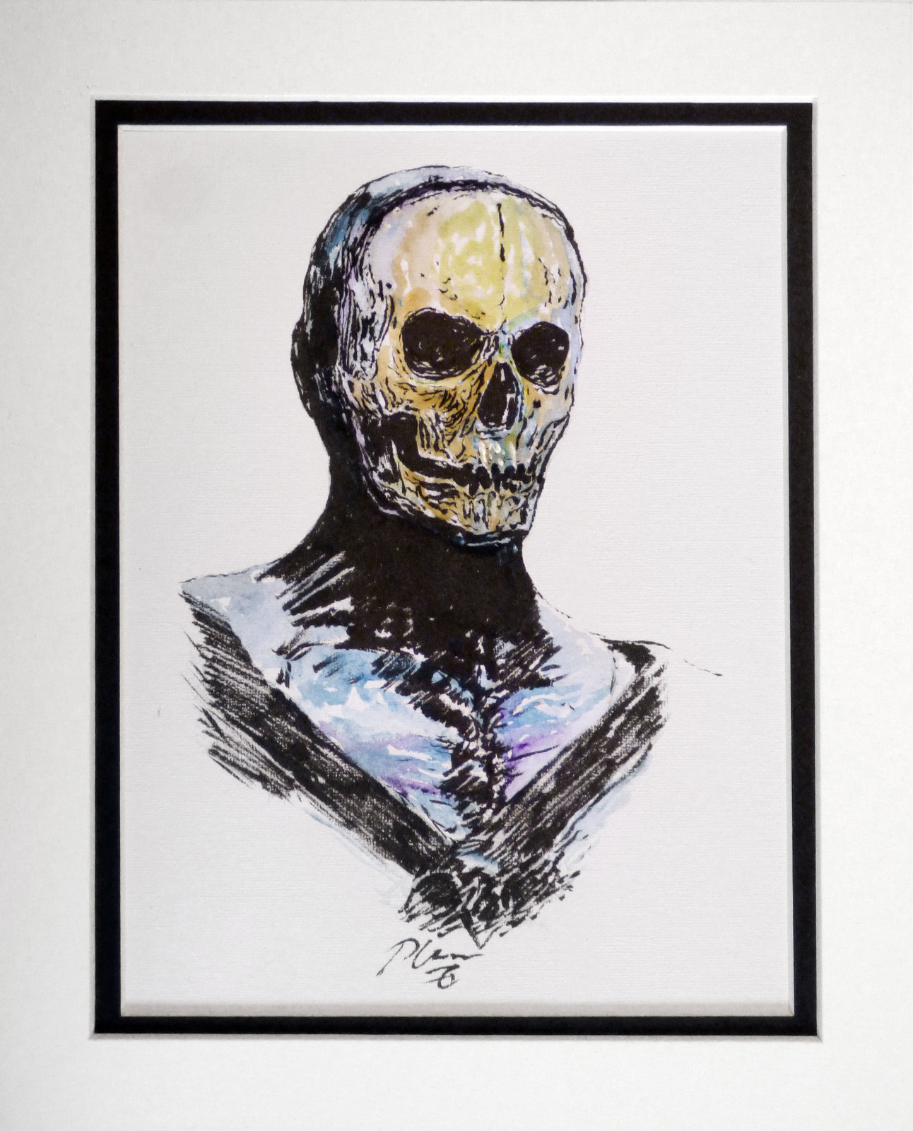 COLOUR INK DRAWING : 04 SKELETOR 1A