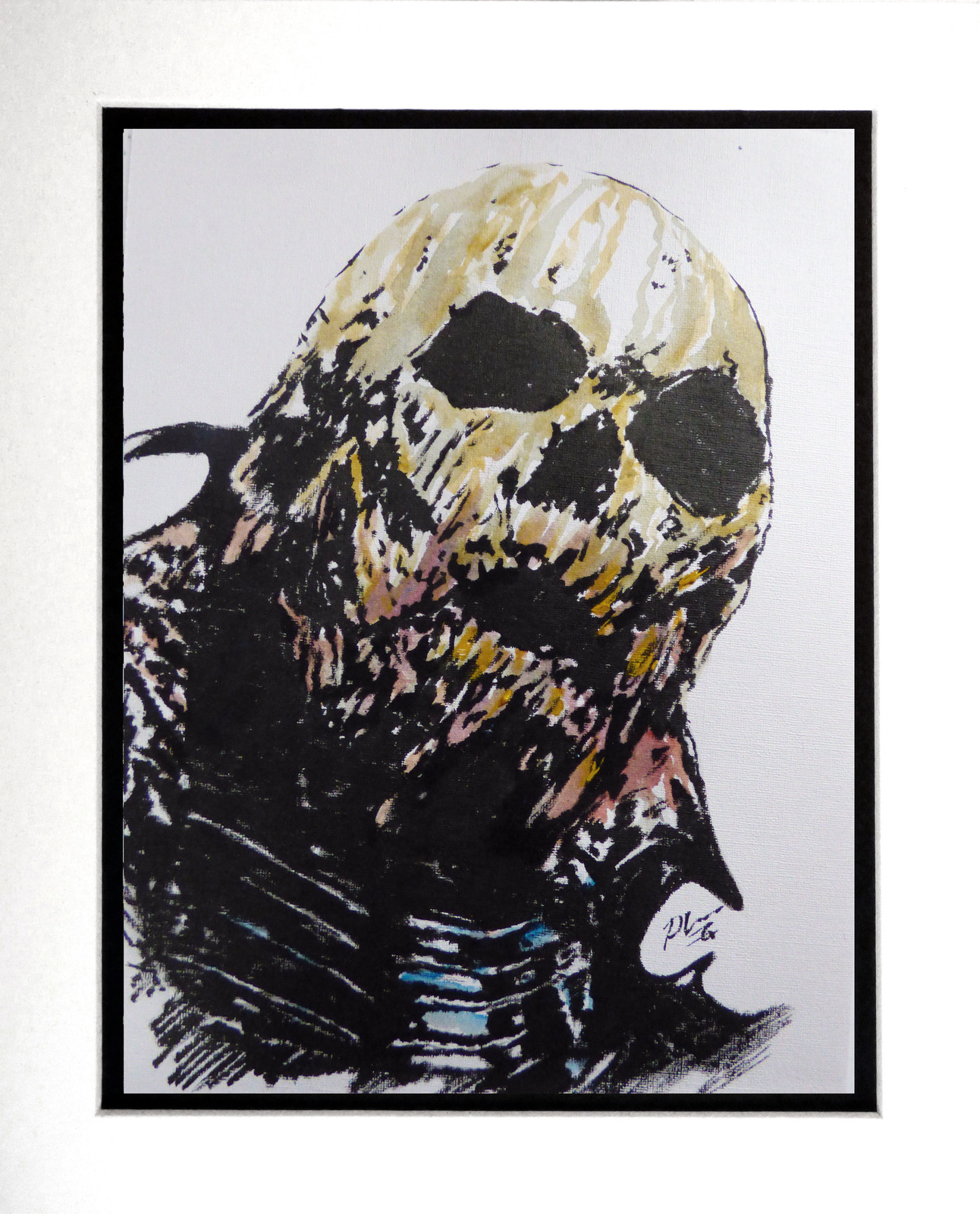 COLOUR INK DRAWING : 08 Skeletor Gerrardian 1a