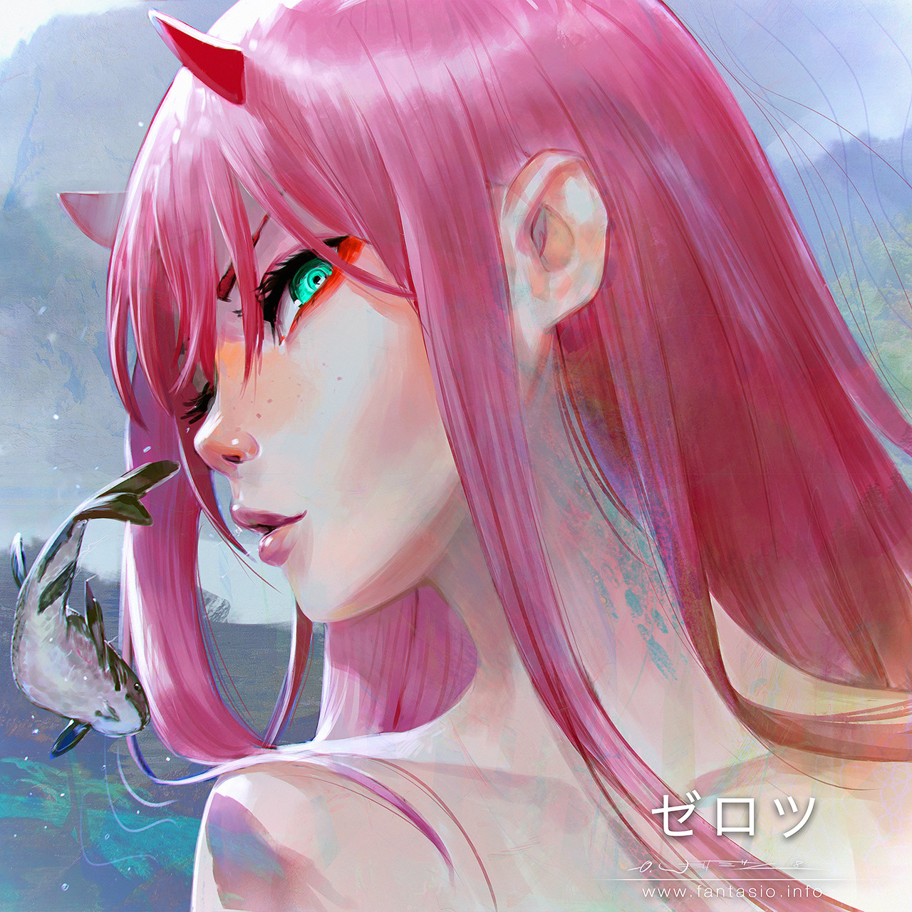 Zero Two + Fish - Portrait Study
