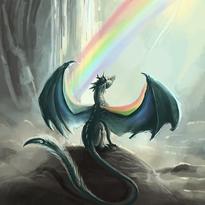 Megan heartfield rainbowdragonprint