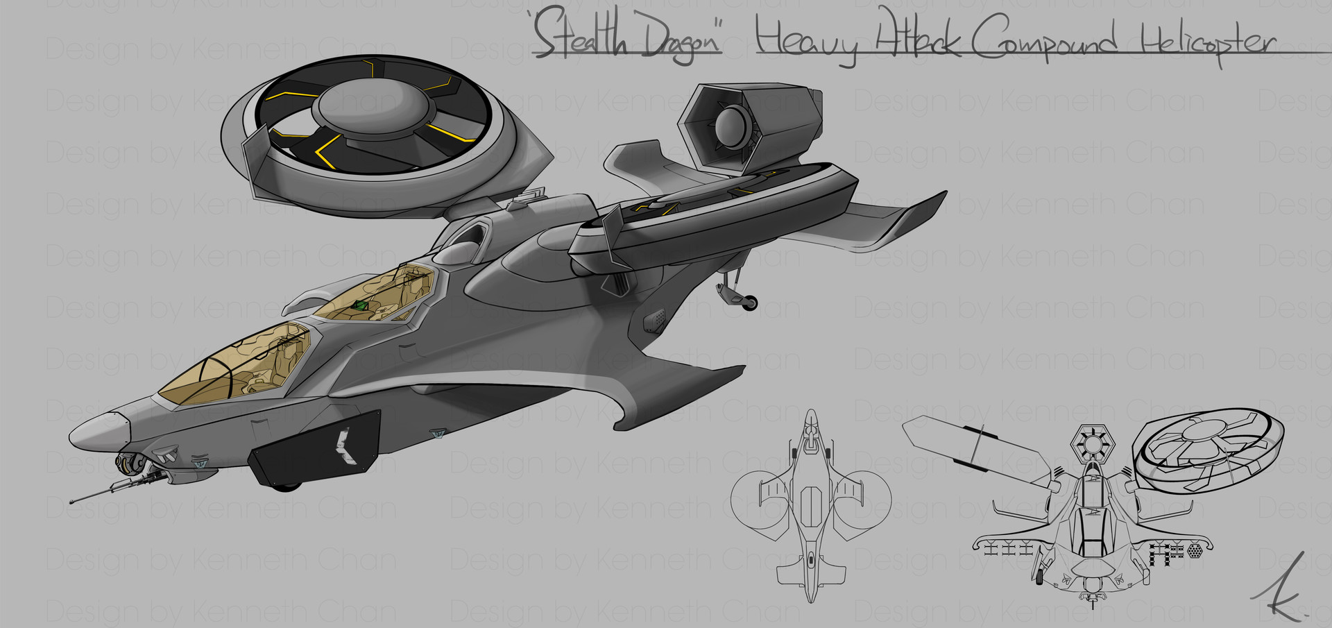 """""""Stealth Dragon"""" Heavy Attack Compound Helicopter"""