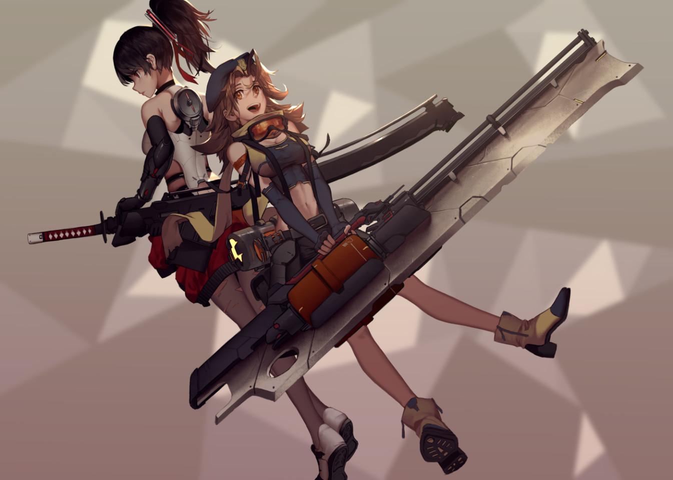 Combat girls concept