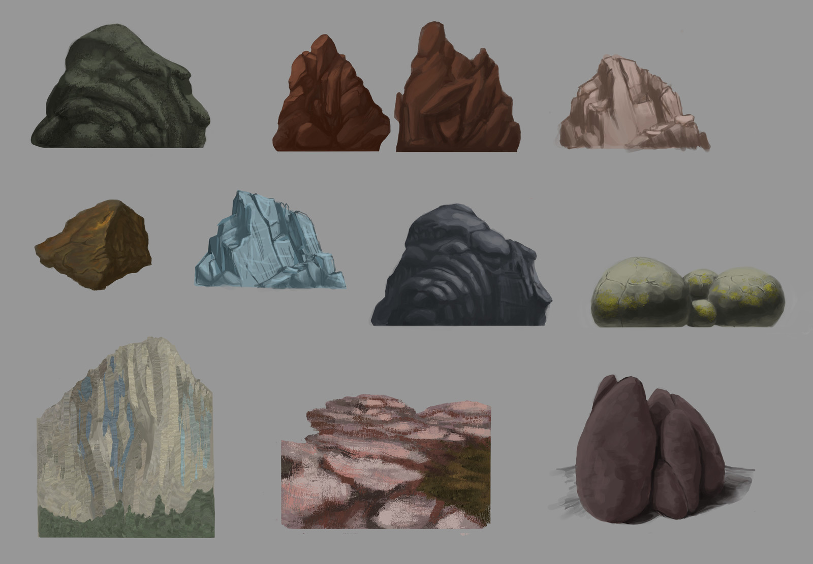 Art Studies - Rocks